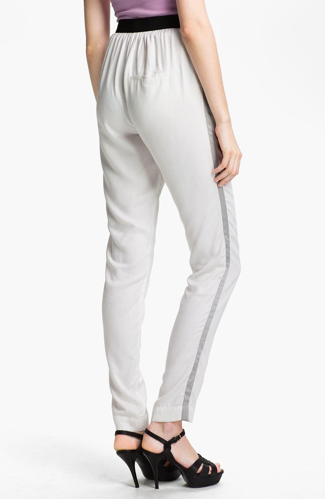 Alternate Image 2  - L'AGENCE Tuxedo Stripe Twill Pants