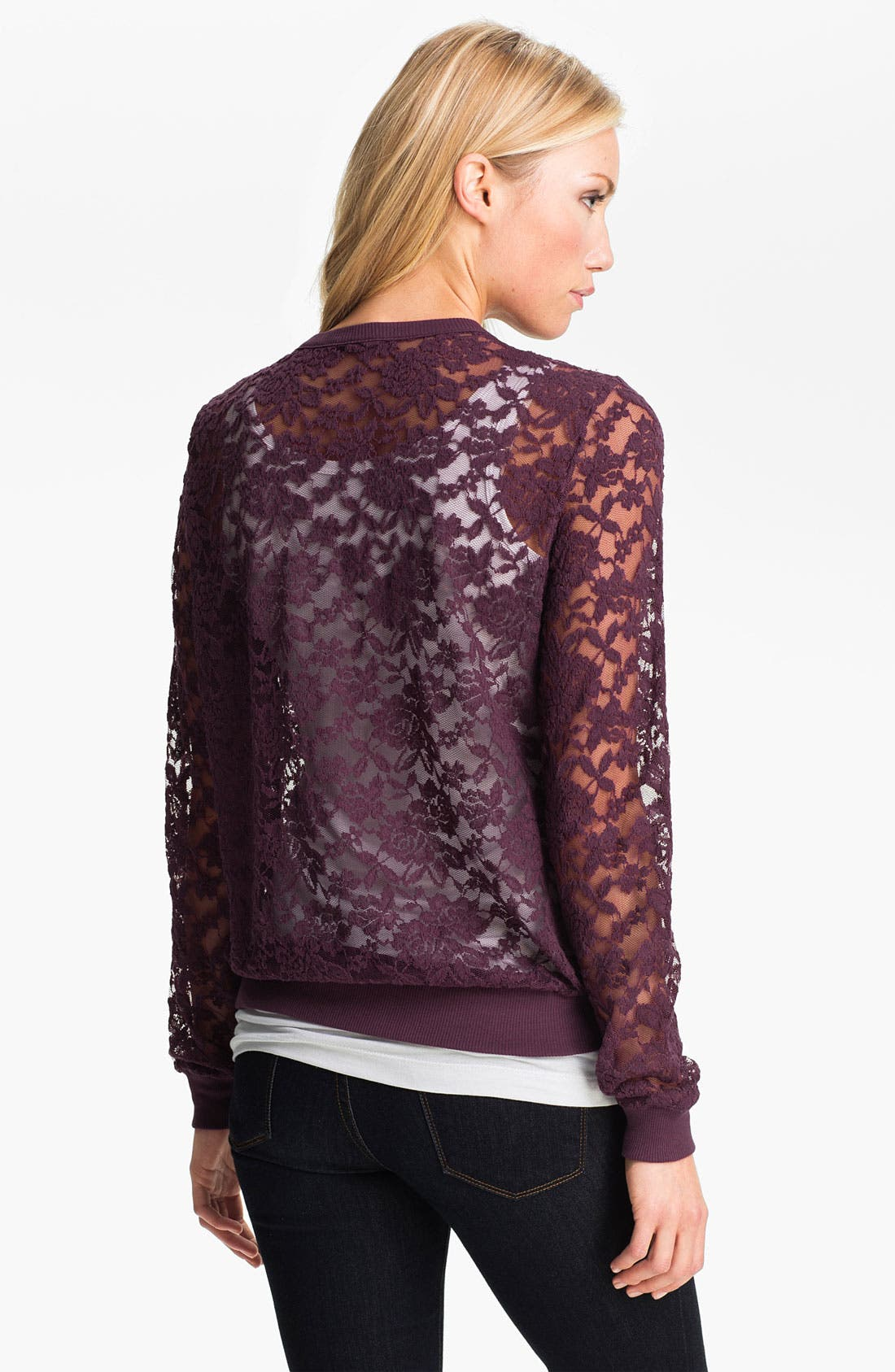 Alternate Image 2  - MOD.lusive Lace Pullover (Nordstrom Exclusive)