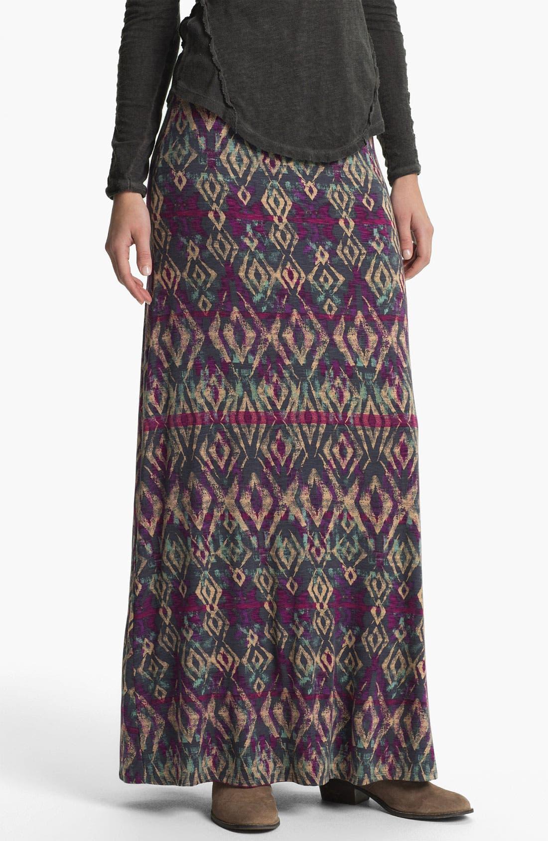 Alternate Image 1 Selected - Free People 'Sahaying' Print Maxi Skirt