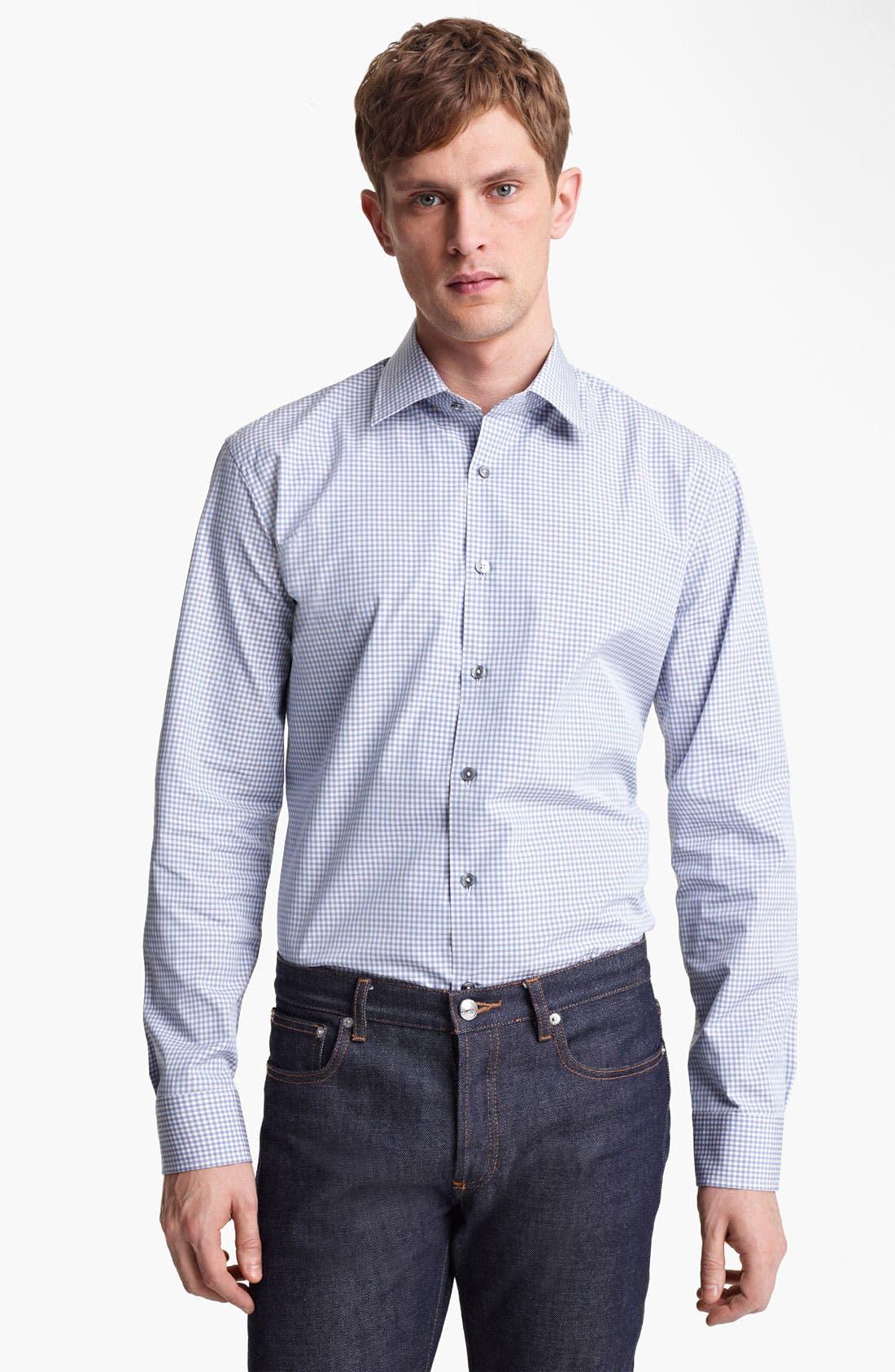 Alternate Image 1 Selected - Paul Smith London Micro Gingham Dress Shirt