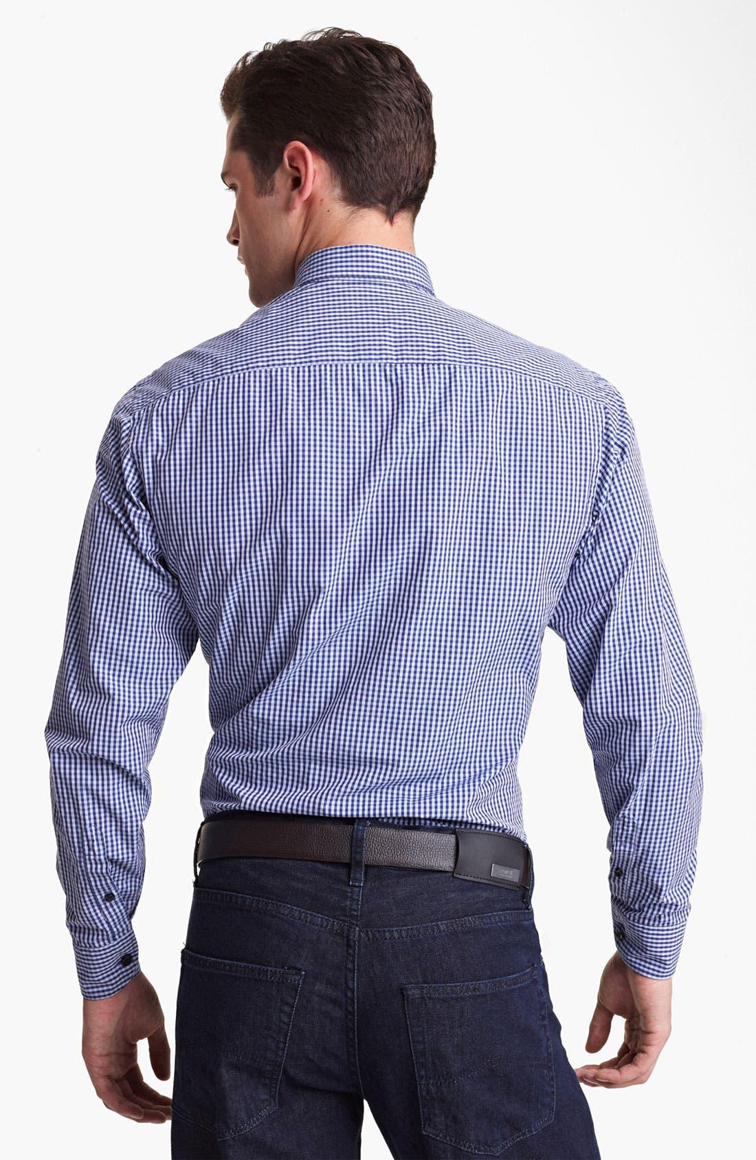 Alternate Image 2  - Armani Collezioni Gingham Sport Shirt