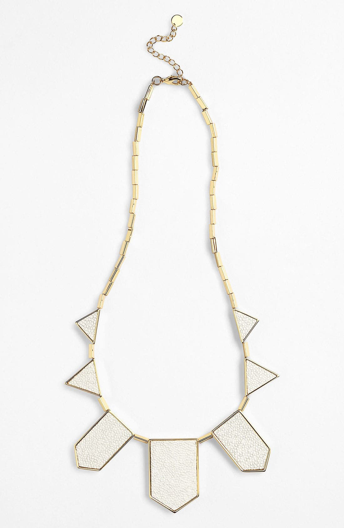 Main Image - House of Harlow 1960 'White Sand' Leather Station Necklace