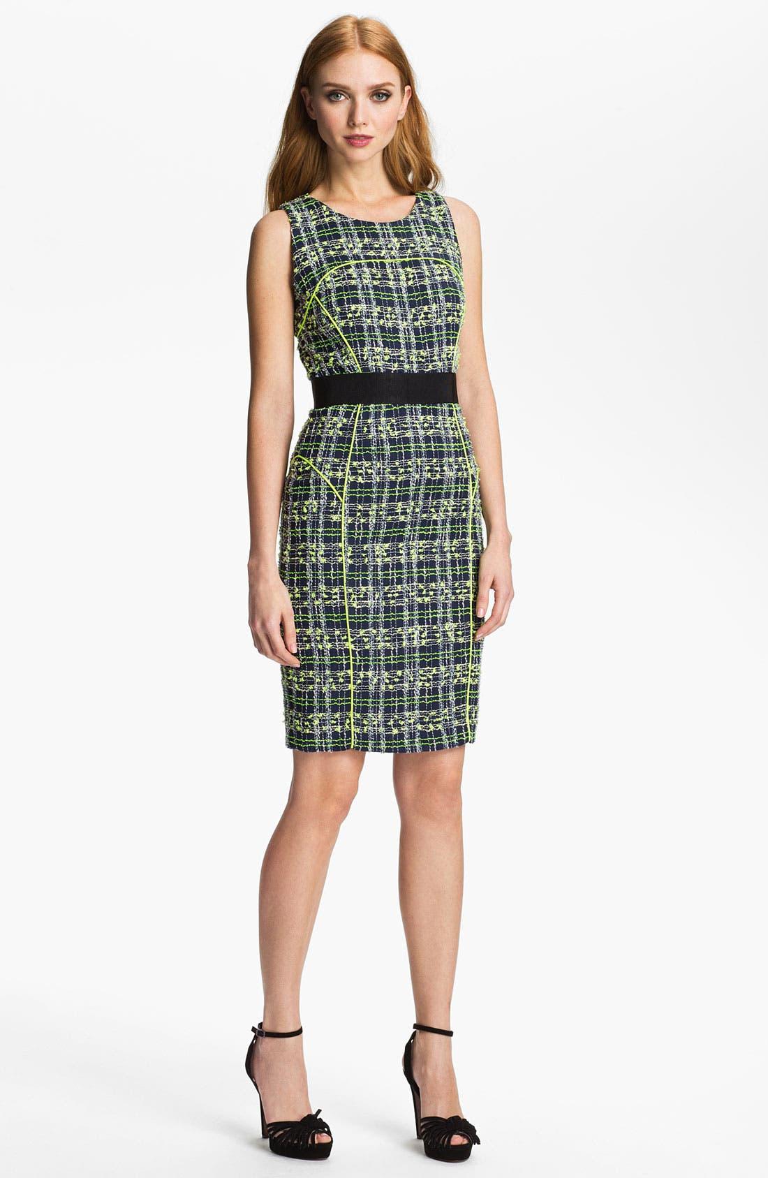 Alternate Image 1 Selected - Milly 'Jasmine' Tweed Sheath Dress