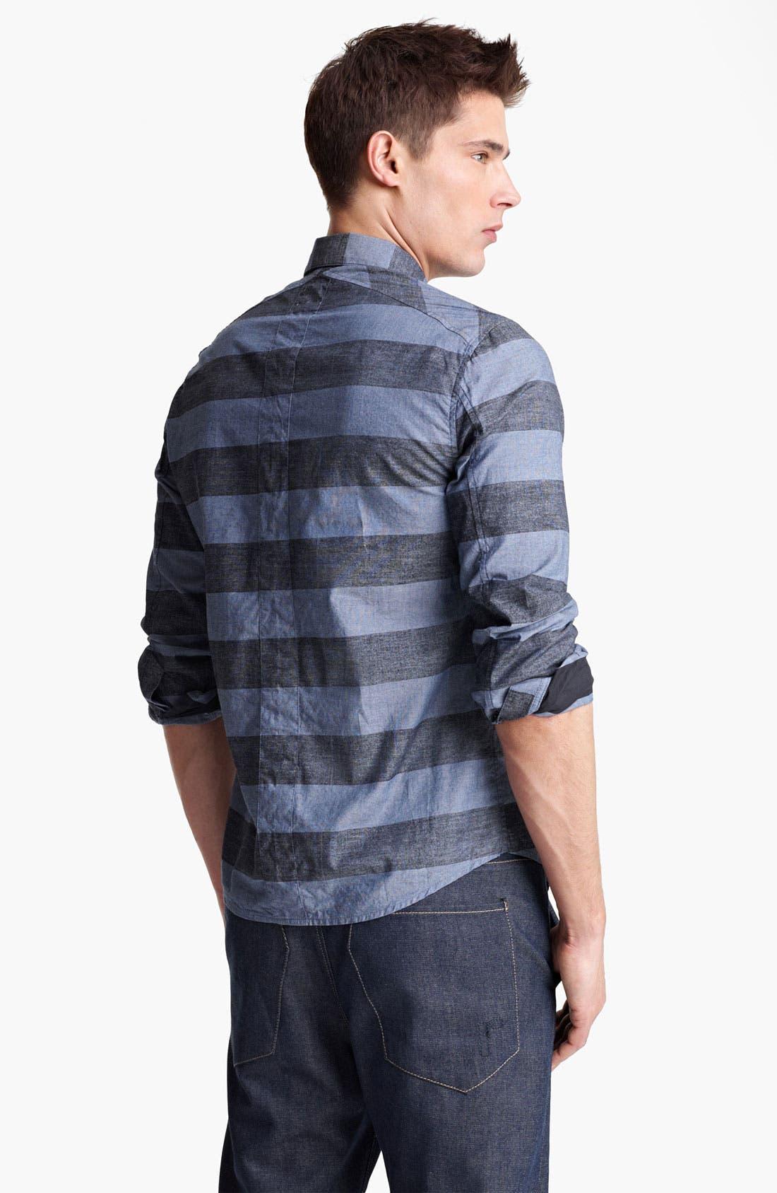 Alternate Image 2  - Rogan 'Kaleef' Stripe Chambray Shirt