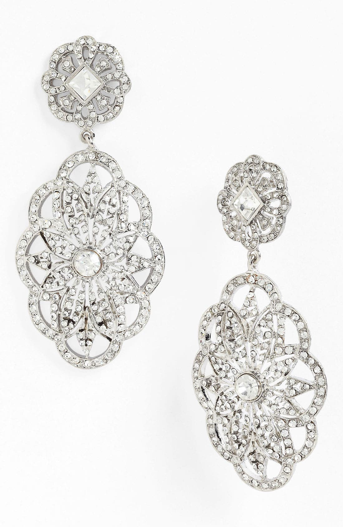 Main Image - Nina 'Bluebell Vintage' Crystal Statement Earrings