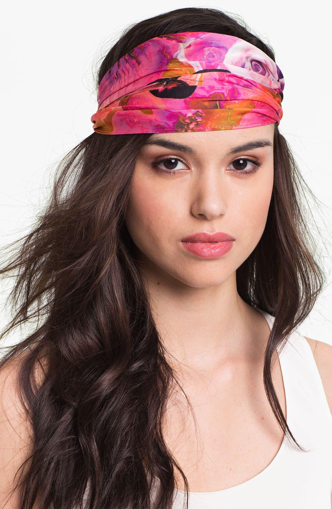 'Secret Garden' Head Wrap,                         Main,                         color, Fuchsia Multi