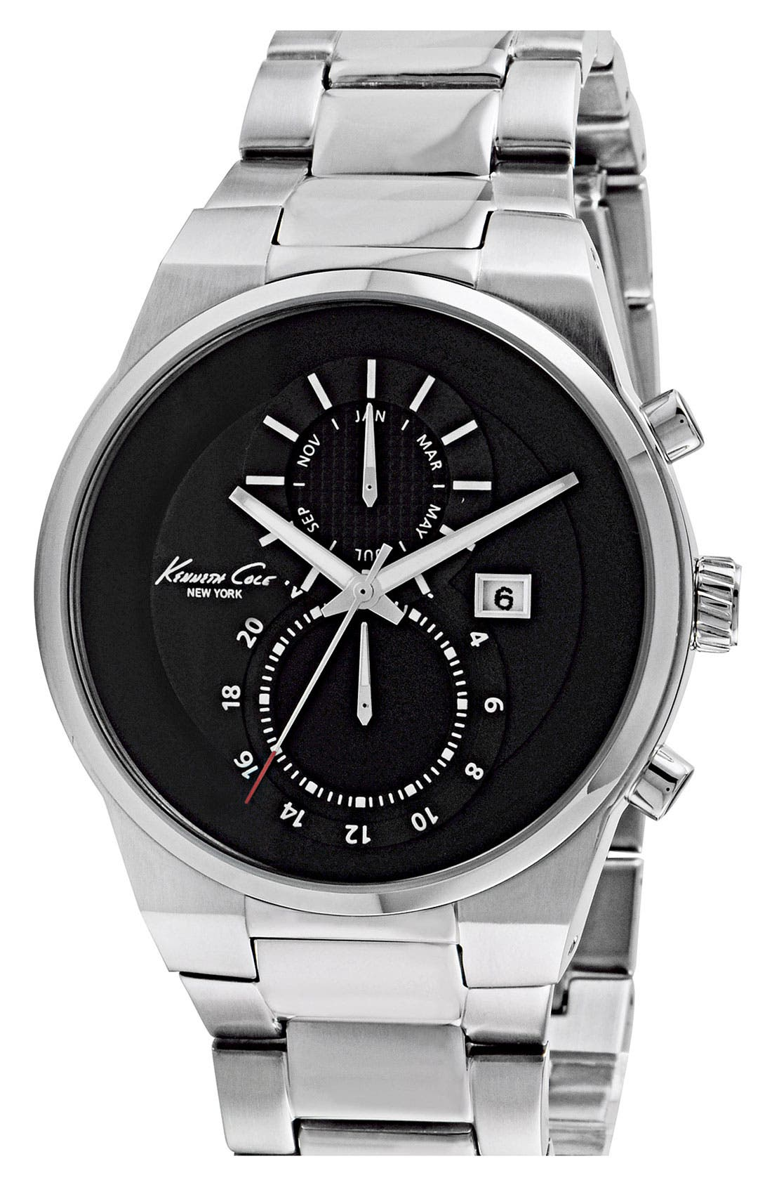 Alternate Image 1 Selected - Kenneth Cole New York Dual Time Bracelet Watch