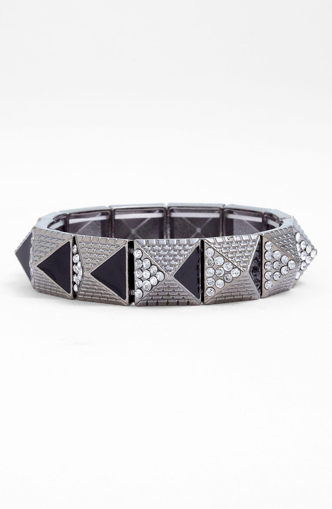 Alternate Image 1 Selected - Stephen & Co. Pyramid Stud Stretch Bracelet