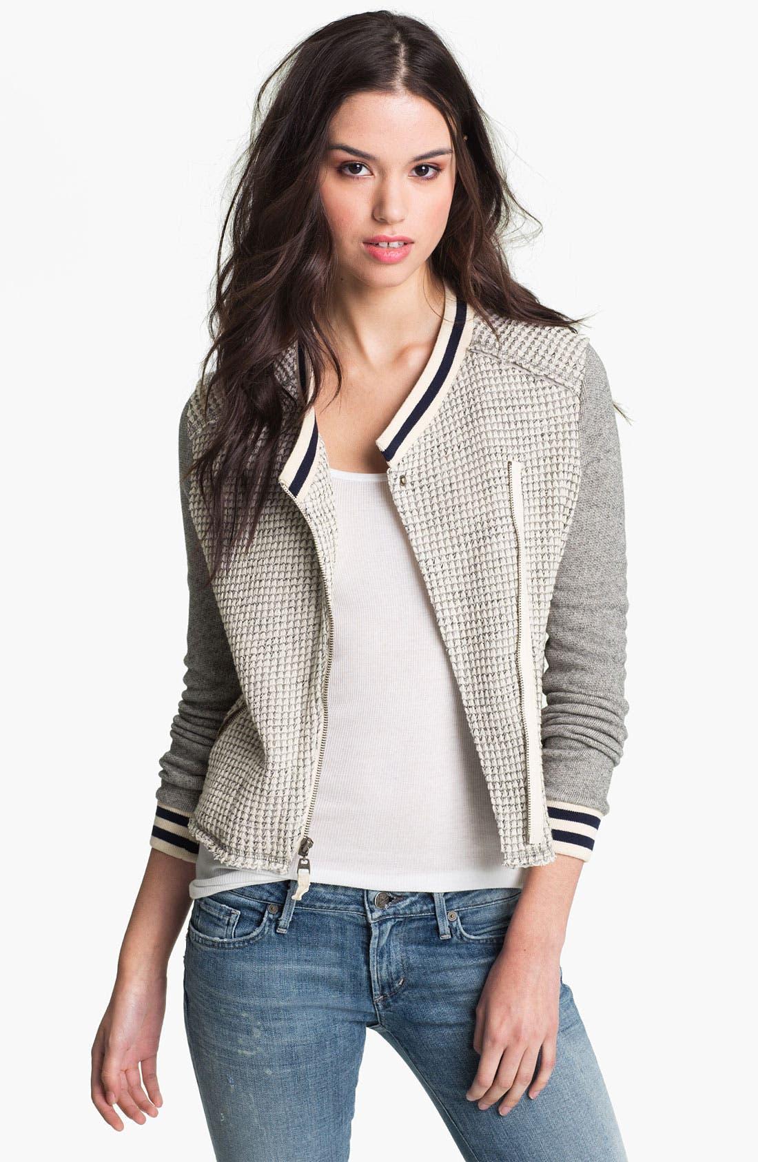 Main Image - Splendid 'Rydell' Thermal Varsity Jacket