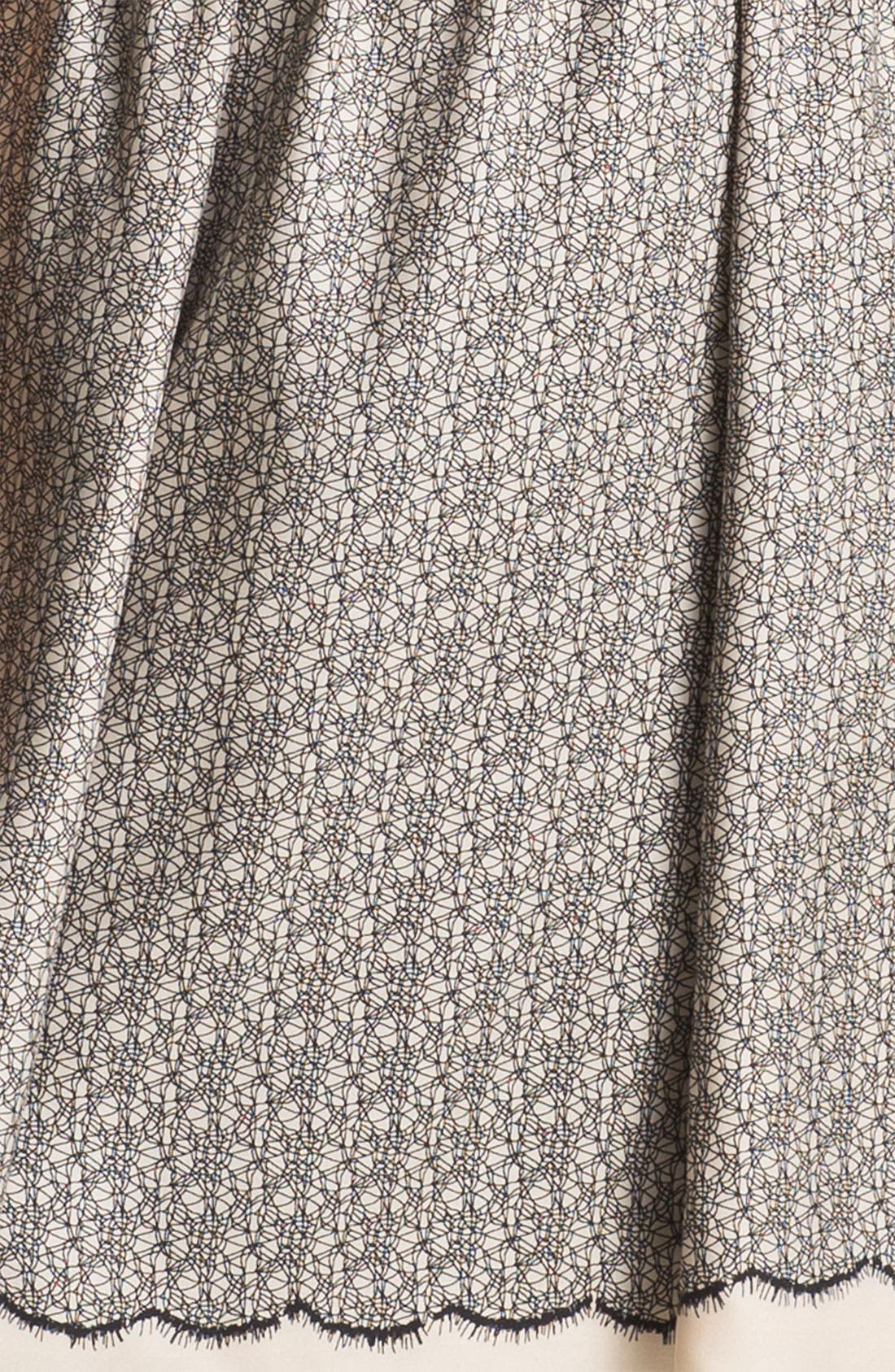 Alternate Image 3  - Miss Wu Lace Print Silk Twill Dress (Nordstrom Exclusive)
