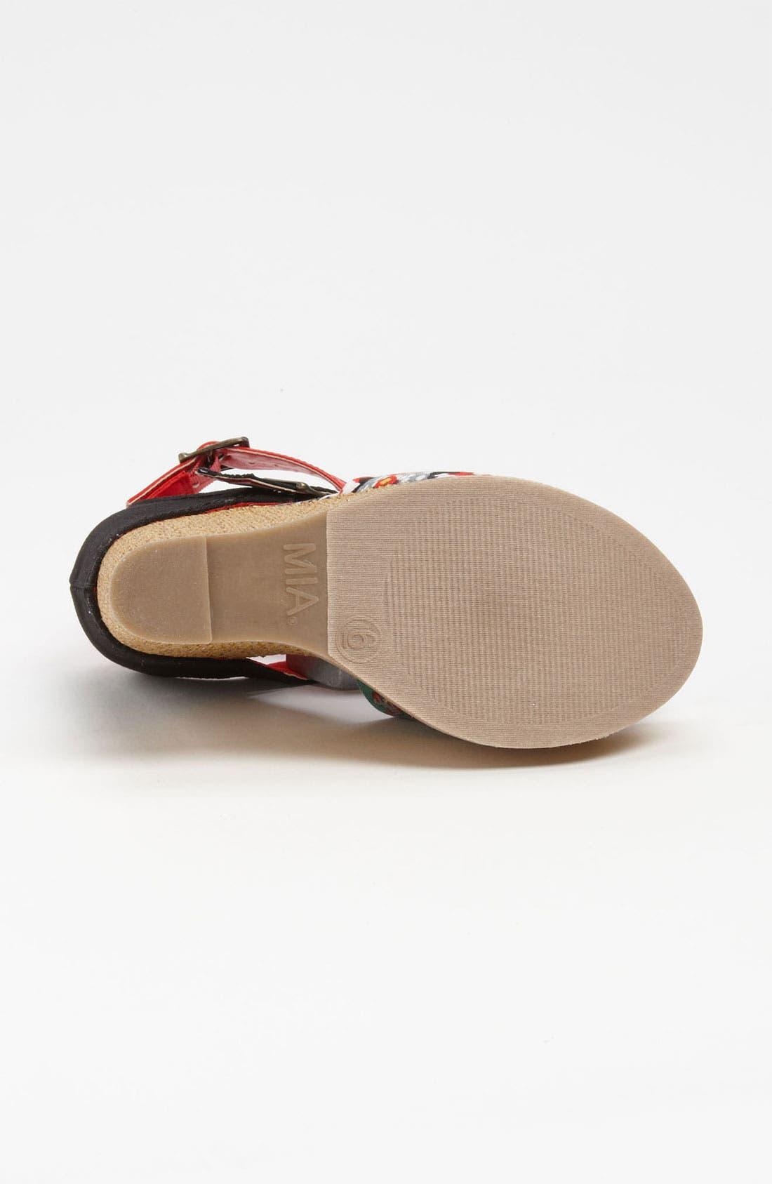 'Ellie' Wedge Sandal,                             Alternate thumbnail 4, color,                             Red