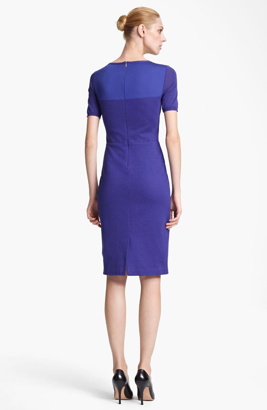 Alternate Image 2  - Max Mara Techno Knit & Jersey Dress