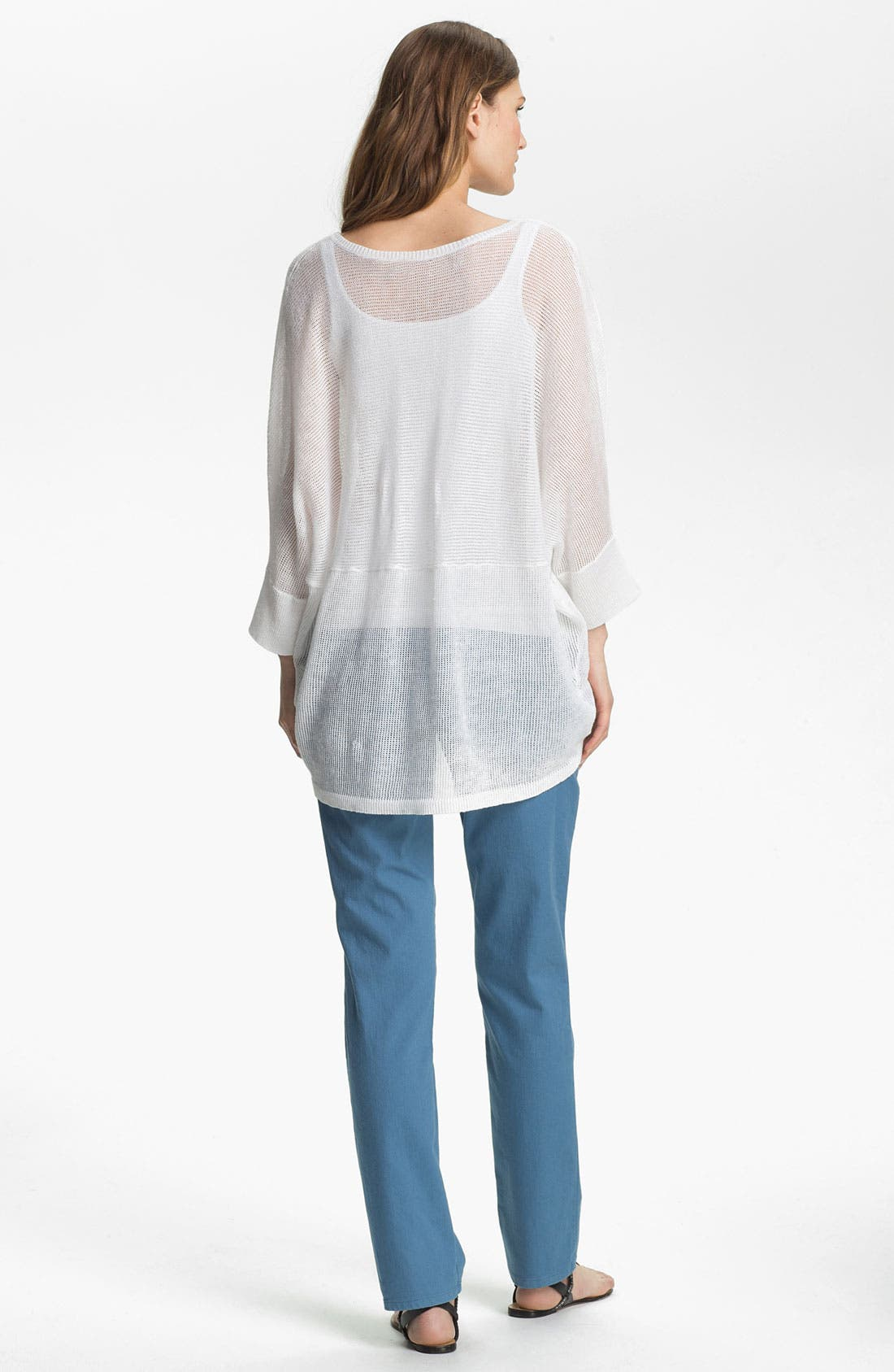 Alternate Image 5  - Eileen Fisher V-Neck Mesh Sweater (Online Exclusive)