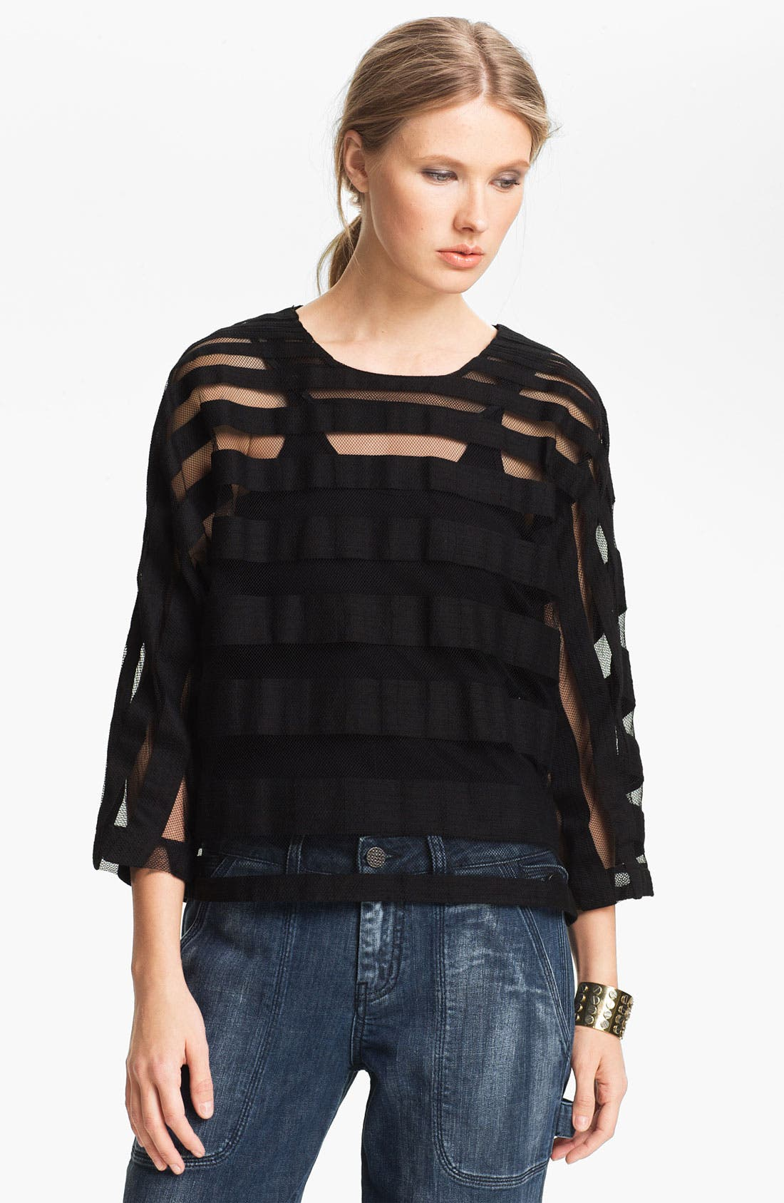 Alternate Image 1 Selected - Kelly Wearstler 'Masonry' Sheer Top