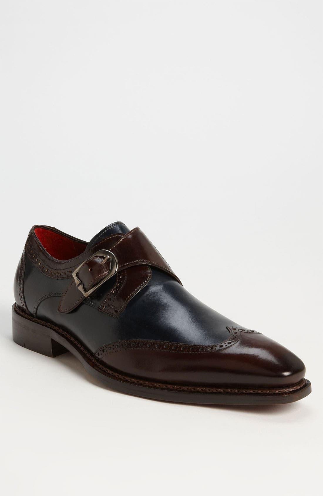 Main Image - Mezlan 'Cleto' Monk Strap Spectator Shoe
