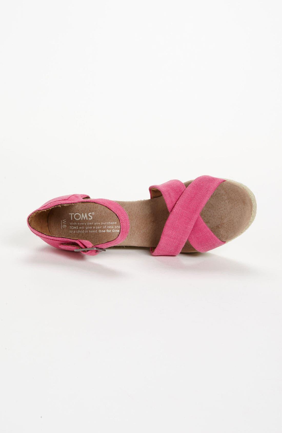 Alternate Image 3  - TOMS Hemp Wedge Sandal