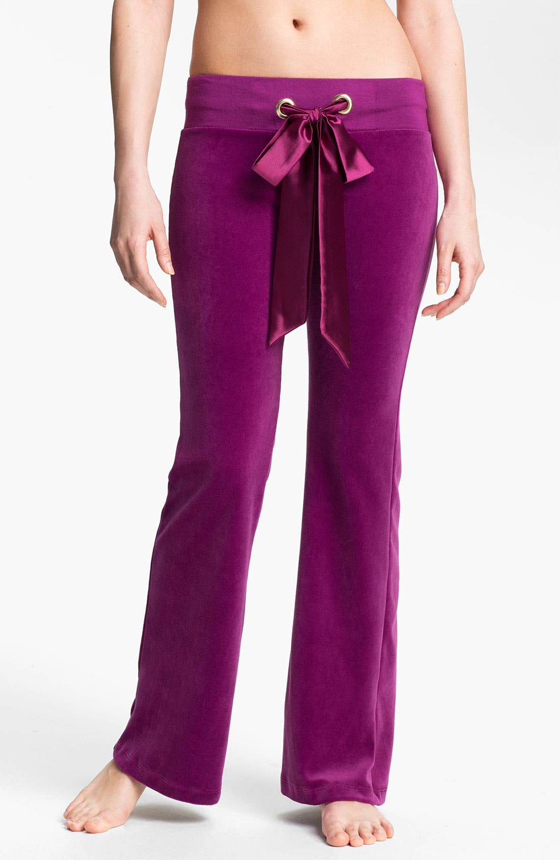 Alternate Image 1 Selected - Beach Bunny 'Winter Romance' Velour Pants