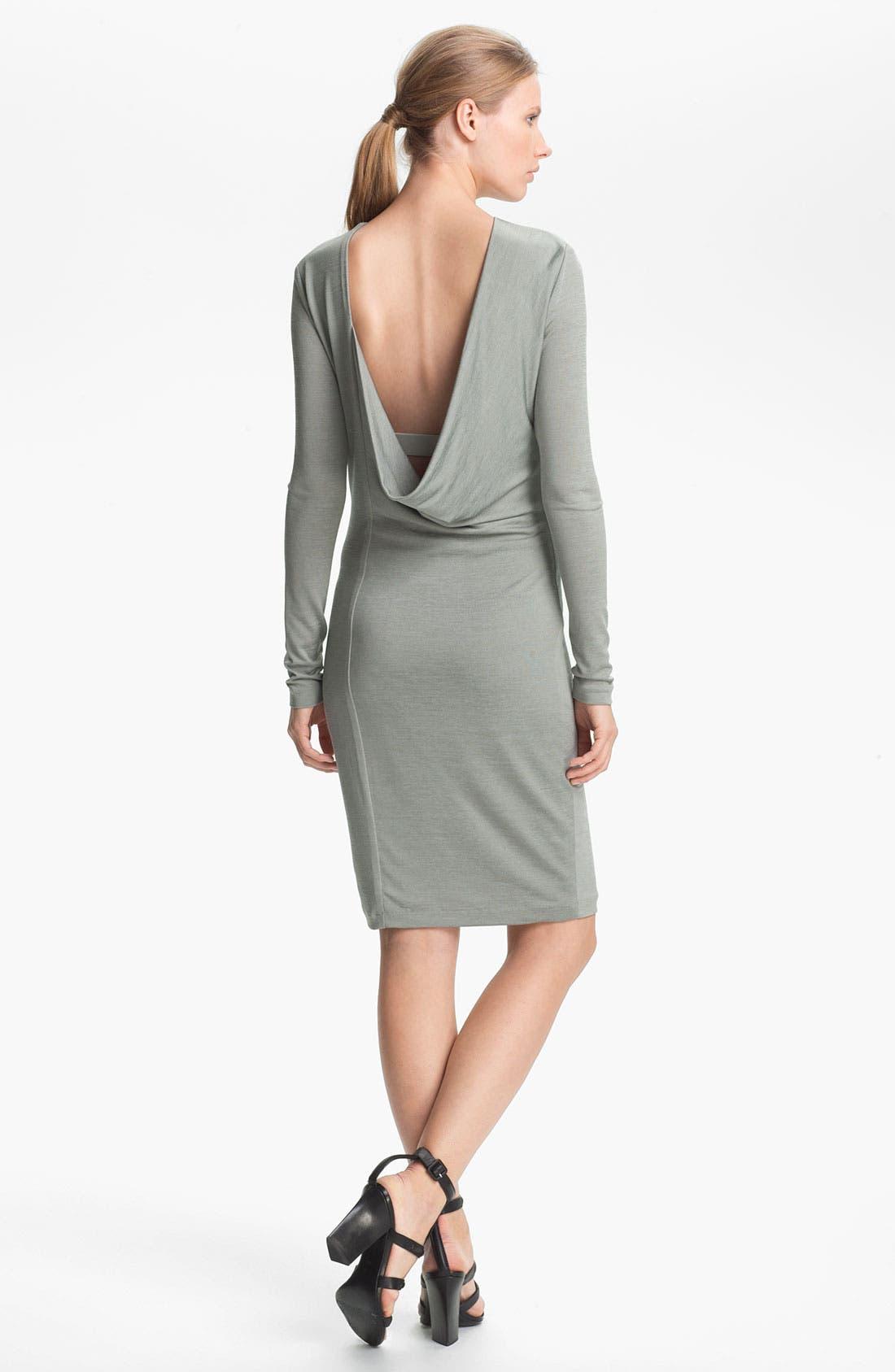 Alternate Image 3  - T by Alexander Wang Drape Back Jersey Dress