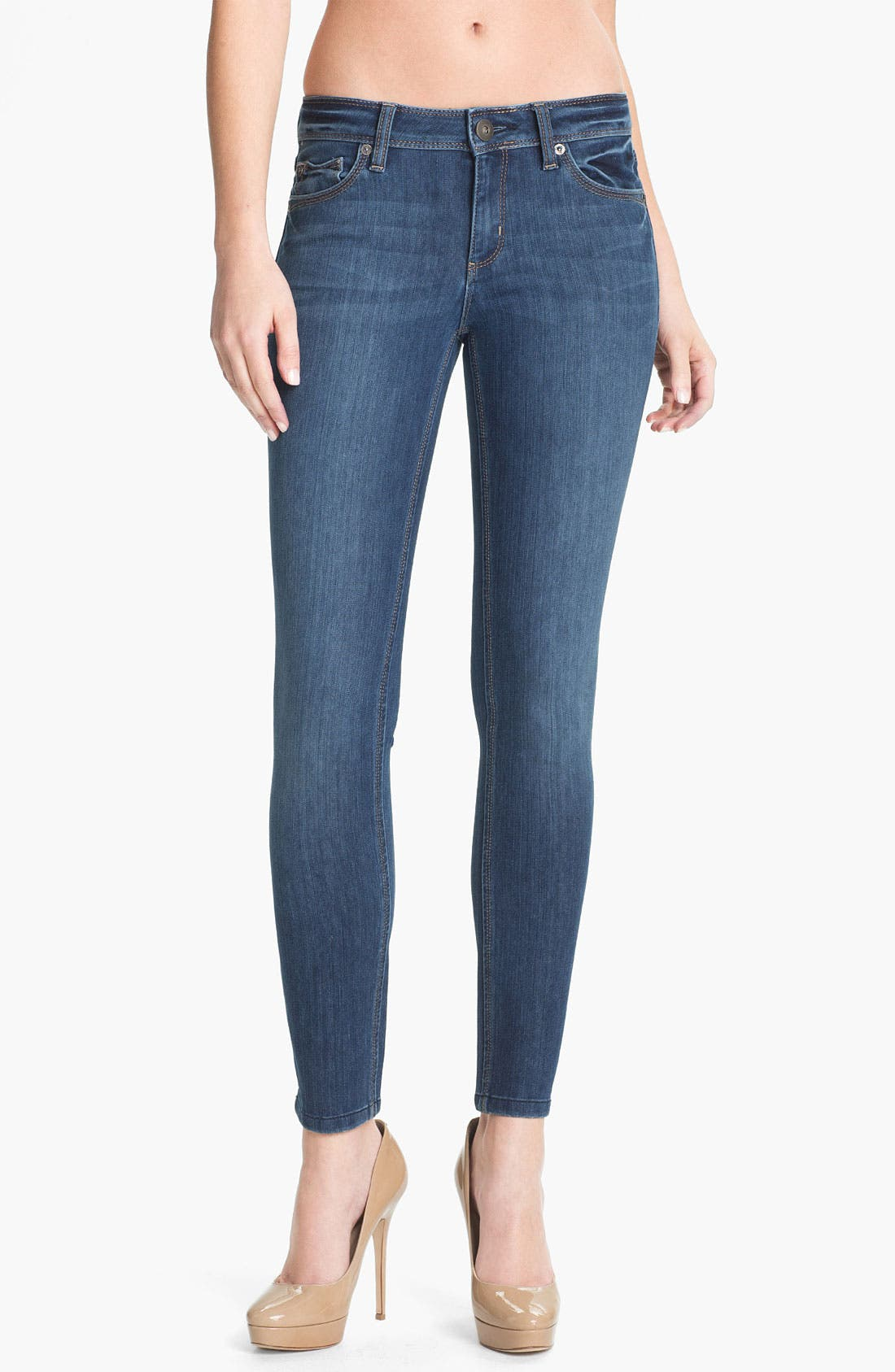 'Angel' X-Fit Stretch Denim Skinny Ankle Jeans,                             Main thumbnail 1, color,                             Zeppelin