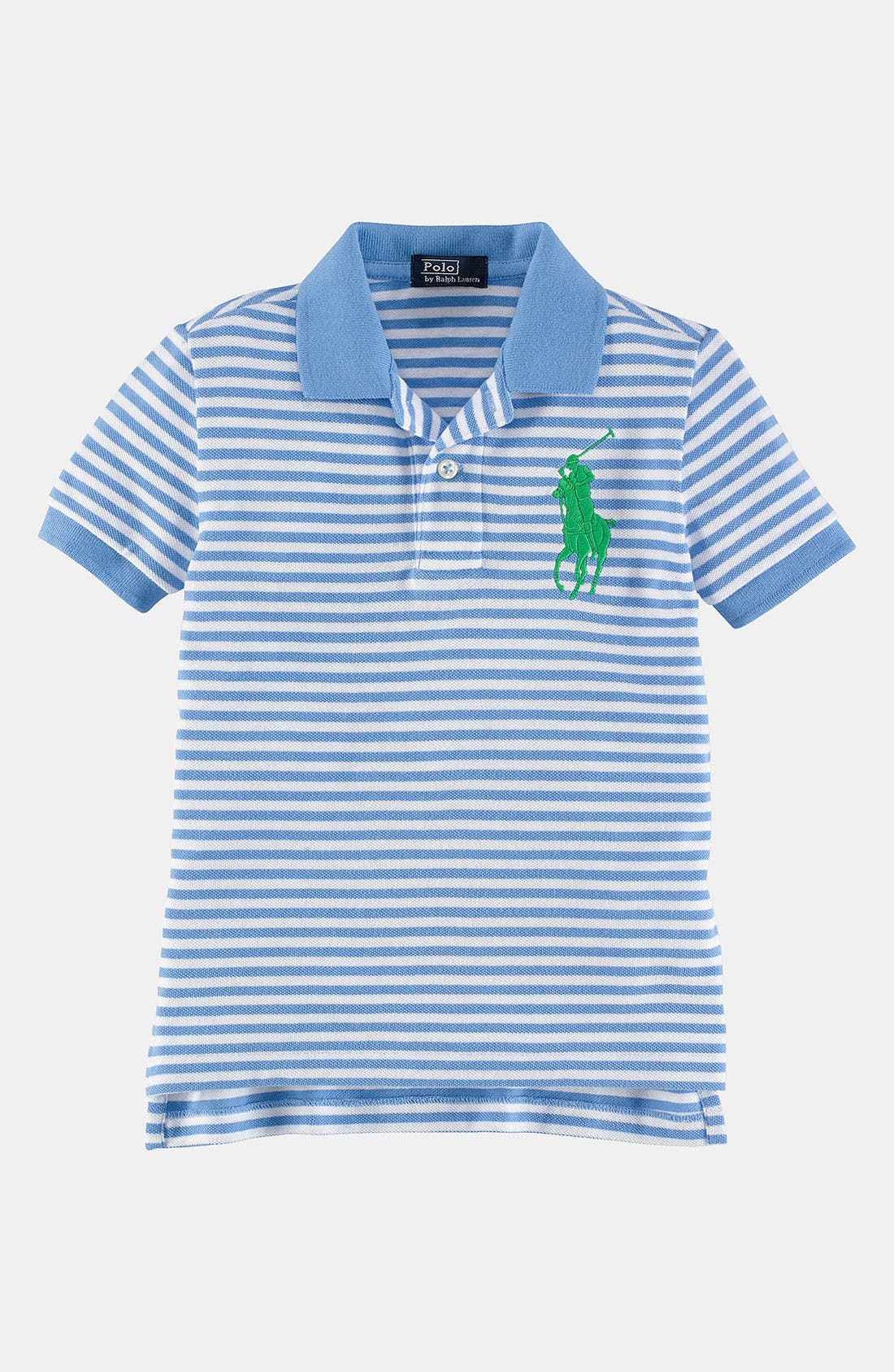 Alternate Image 1 Selected - Ralph Lauren Stripe Polo (Toddler)