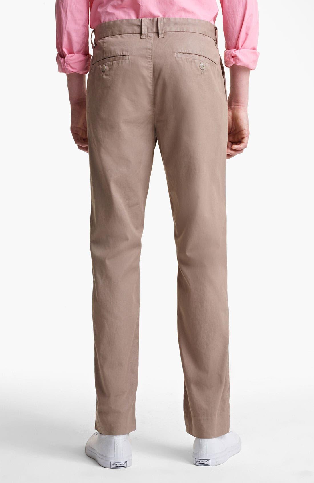 Alternate Image 3  - Save Khaki 'Happy Hour' Slim Straight Leg Pants