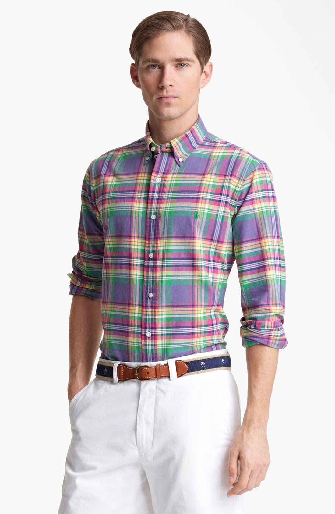Alternate Image 1 Selected - Polo Ralph Lauren Custom Fit Sport Shirt