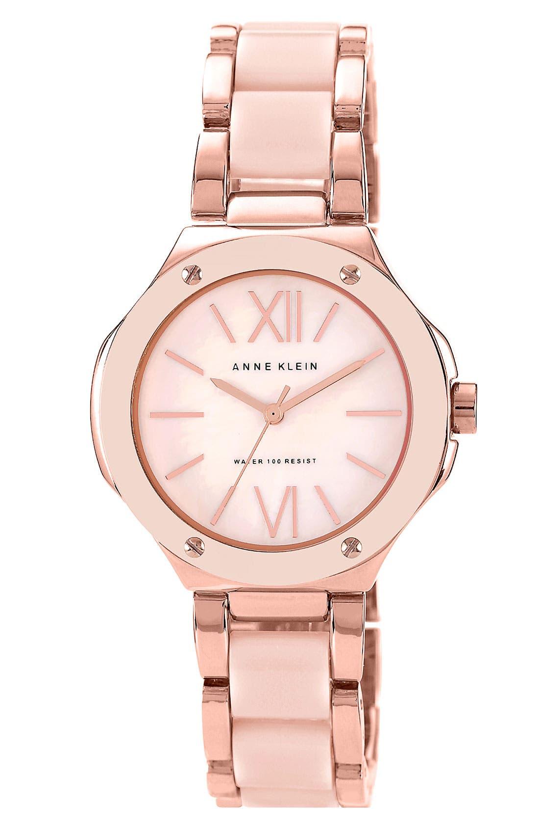 Alternate Image 1 Selected - Anne Klein Round Bracelet Watch, 33mm