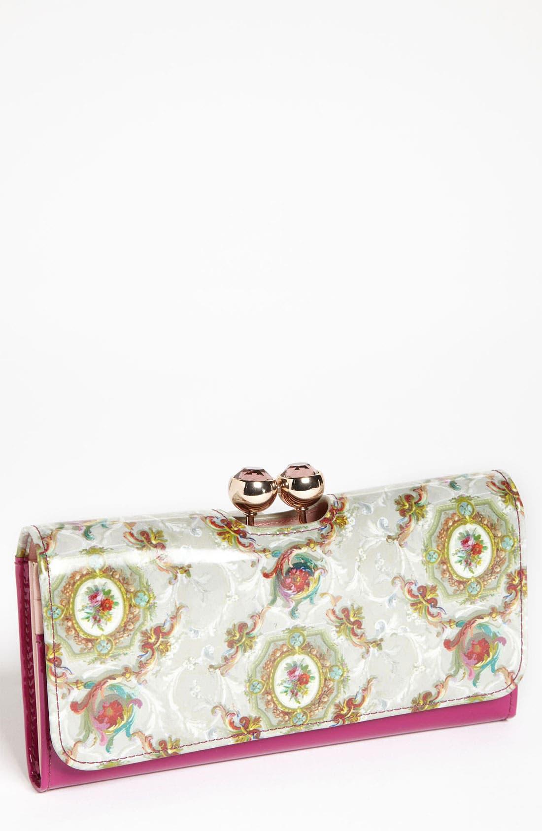 Main Image - Ted Baker London 'Baroque Deco Crystal Bobble' Matinee Wallet