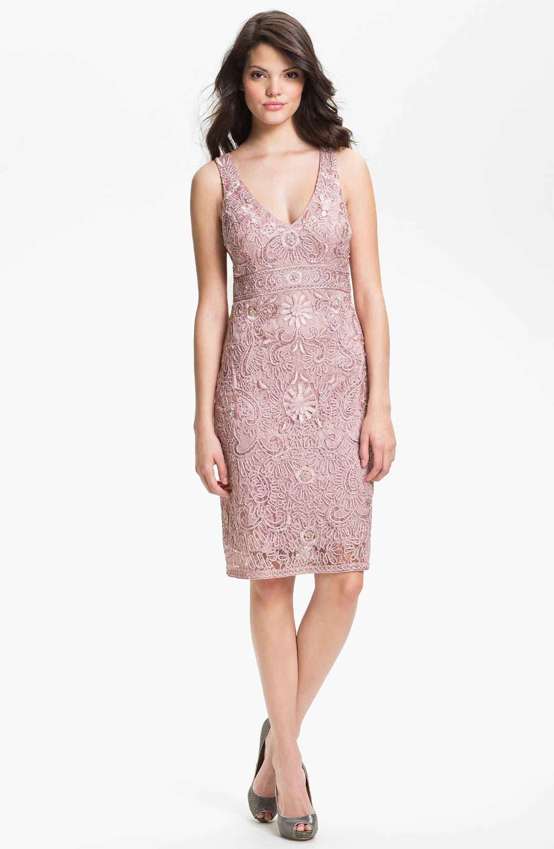 Alternate Image 1 Selected - Sue Wong Embellished Tulle Sheath Dress