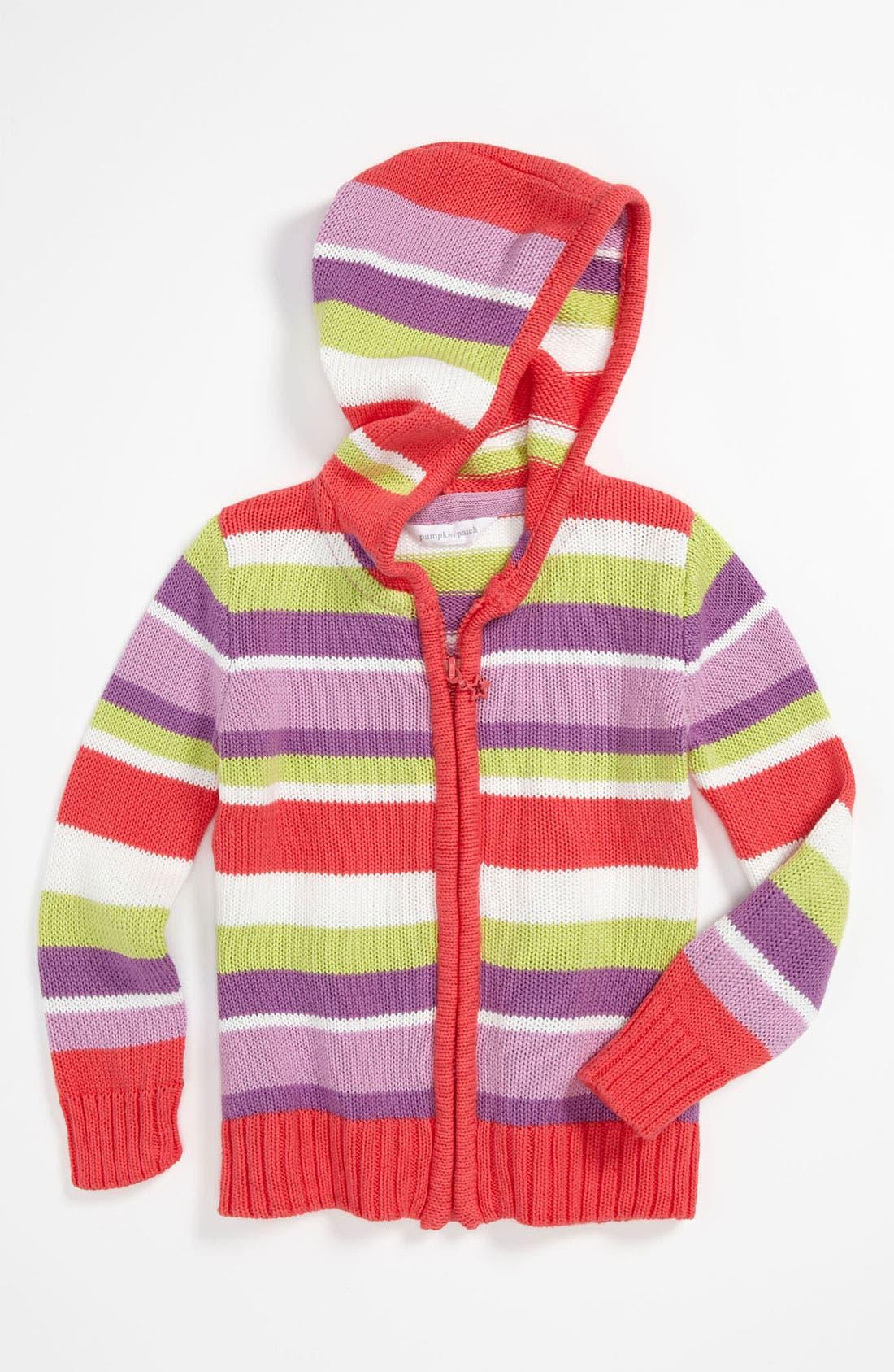 Main Image - Pumpkin Patch Hooded Cardigan (Toddler)