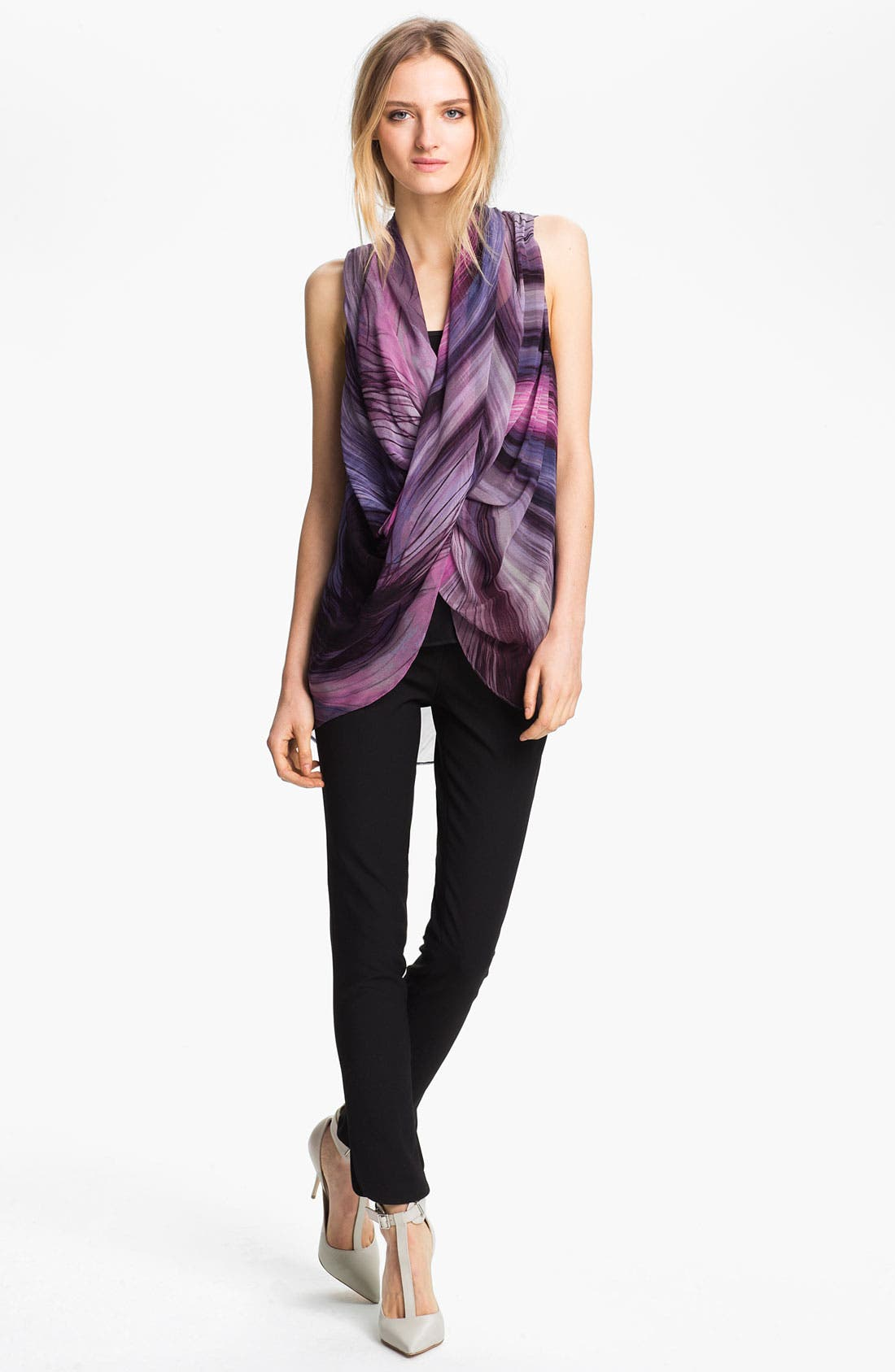 Alternate Image 1 Selected - Elizabeth and James 'Elena' Print Chiffon Top