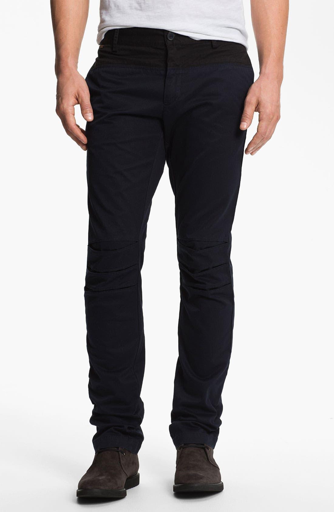 Main Image - adidas SLVR Slim Flat Front Pants
