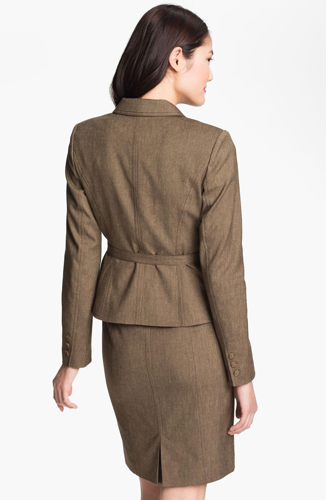 Alternate Image 2  - Halogen® 'Subtle Stretch' Belted Jacket