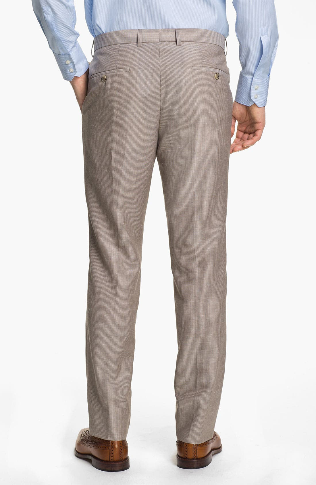 Alternate Image 5  - BOSS Black 'Hedge/Gense' Trim Fit Stripe Suit