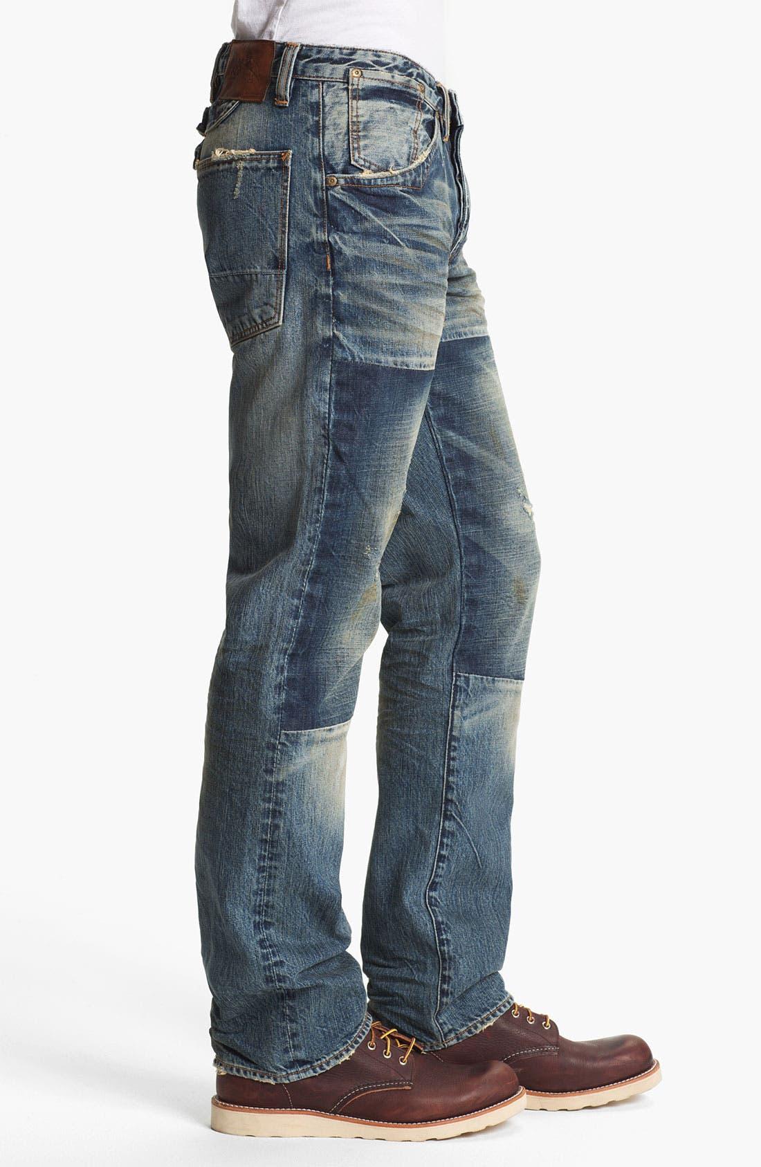 Alternate Image 3  - PRPS 'Myron Barracuda' Straight Leg Jeans (Light Wash)