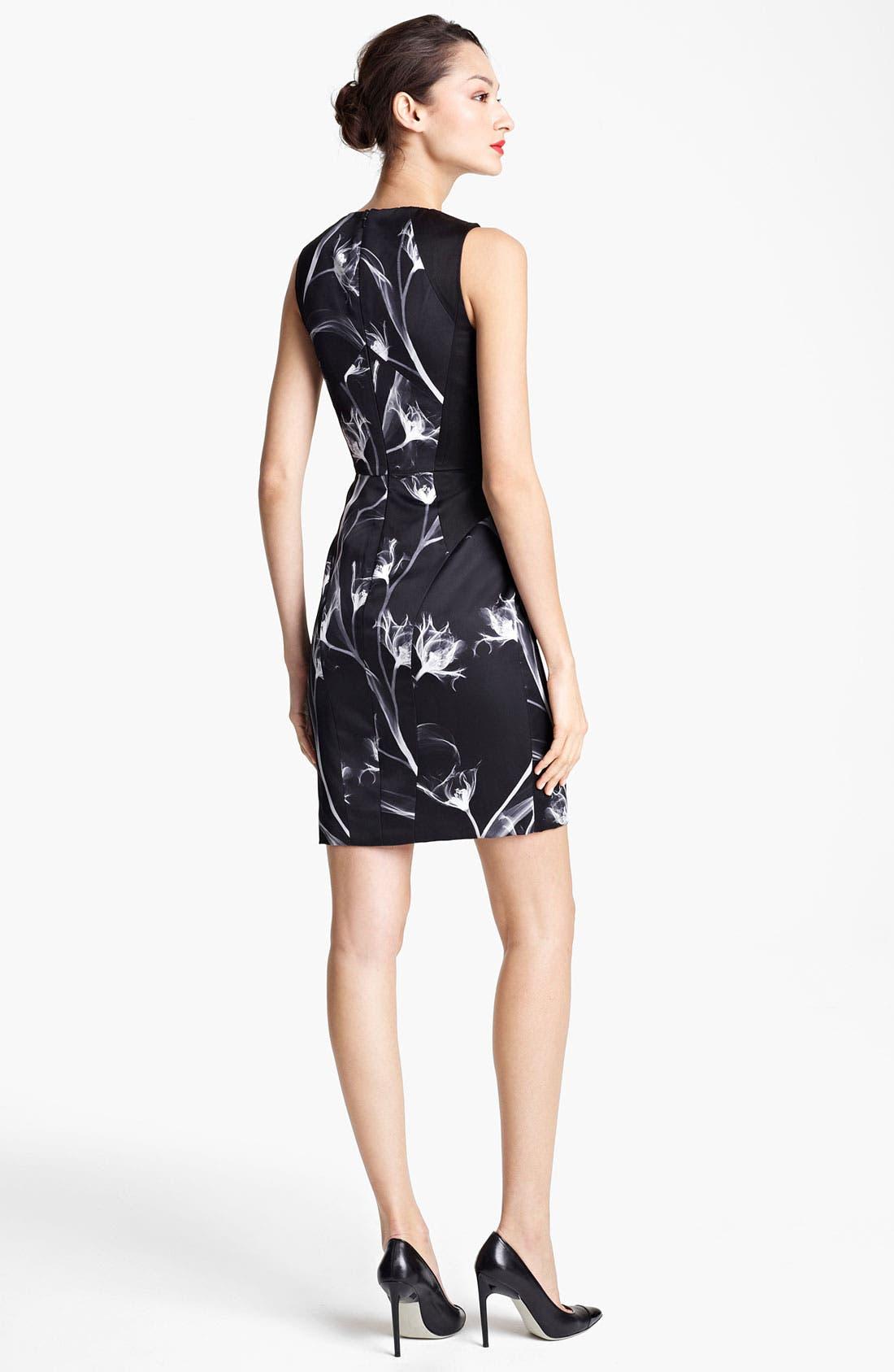 Alternate Image 4  - Jason Wu Floral Print Silk Sheath Dress