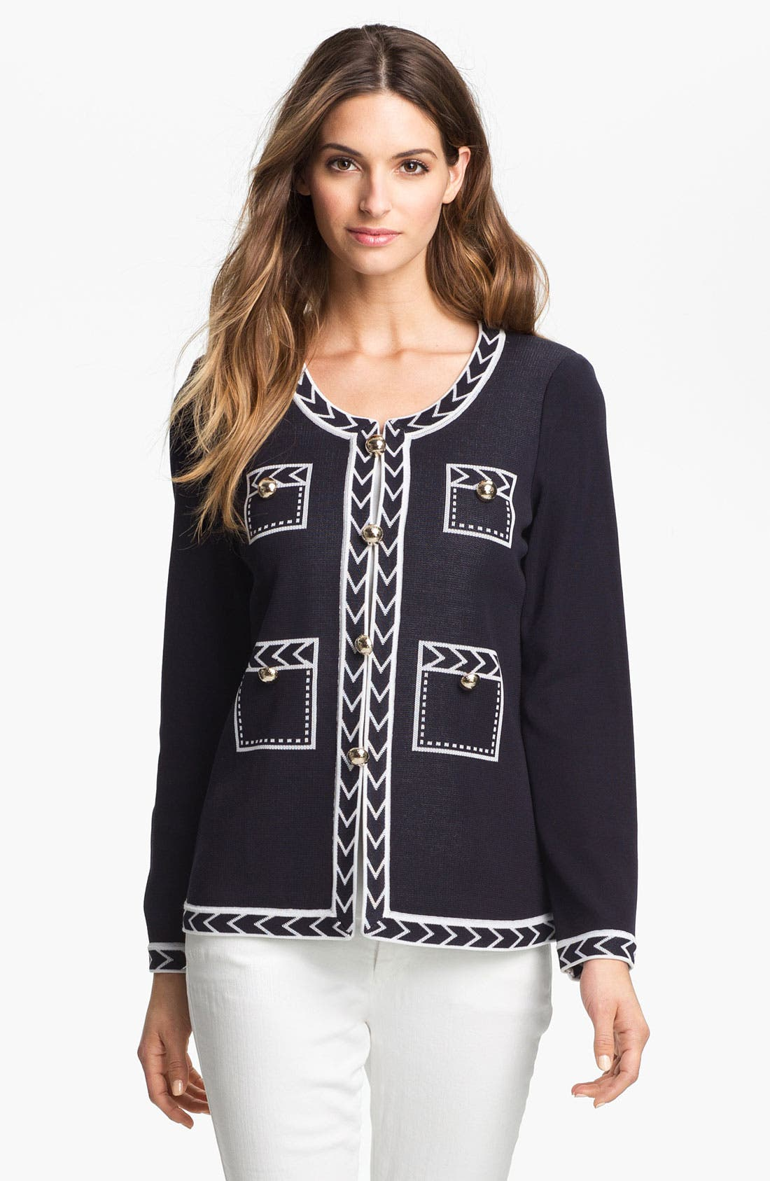 Main Image - Exclusively Misook 'Adrienne' Jacket (Petite) (Online Only)