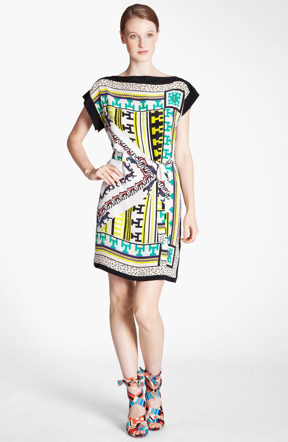 Main Image - MSGM Belted Foulard Dress