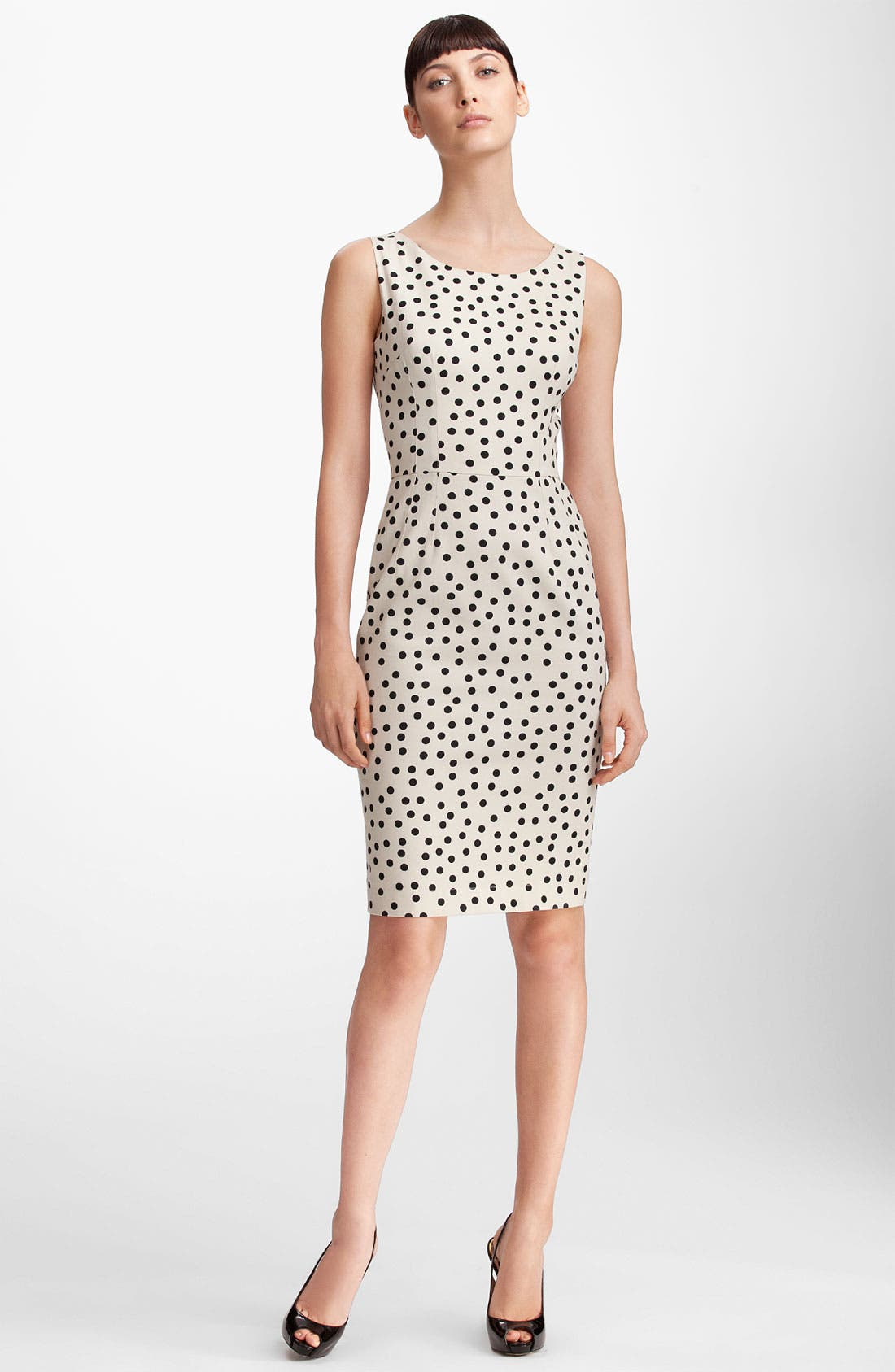Alternate Image 1 Selected - Dolce&Gabbana Polka Dot Stretch Cotton Dress