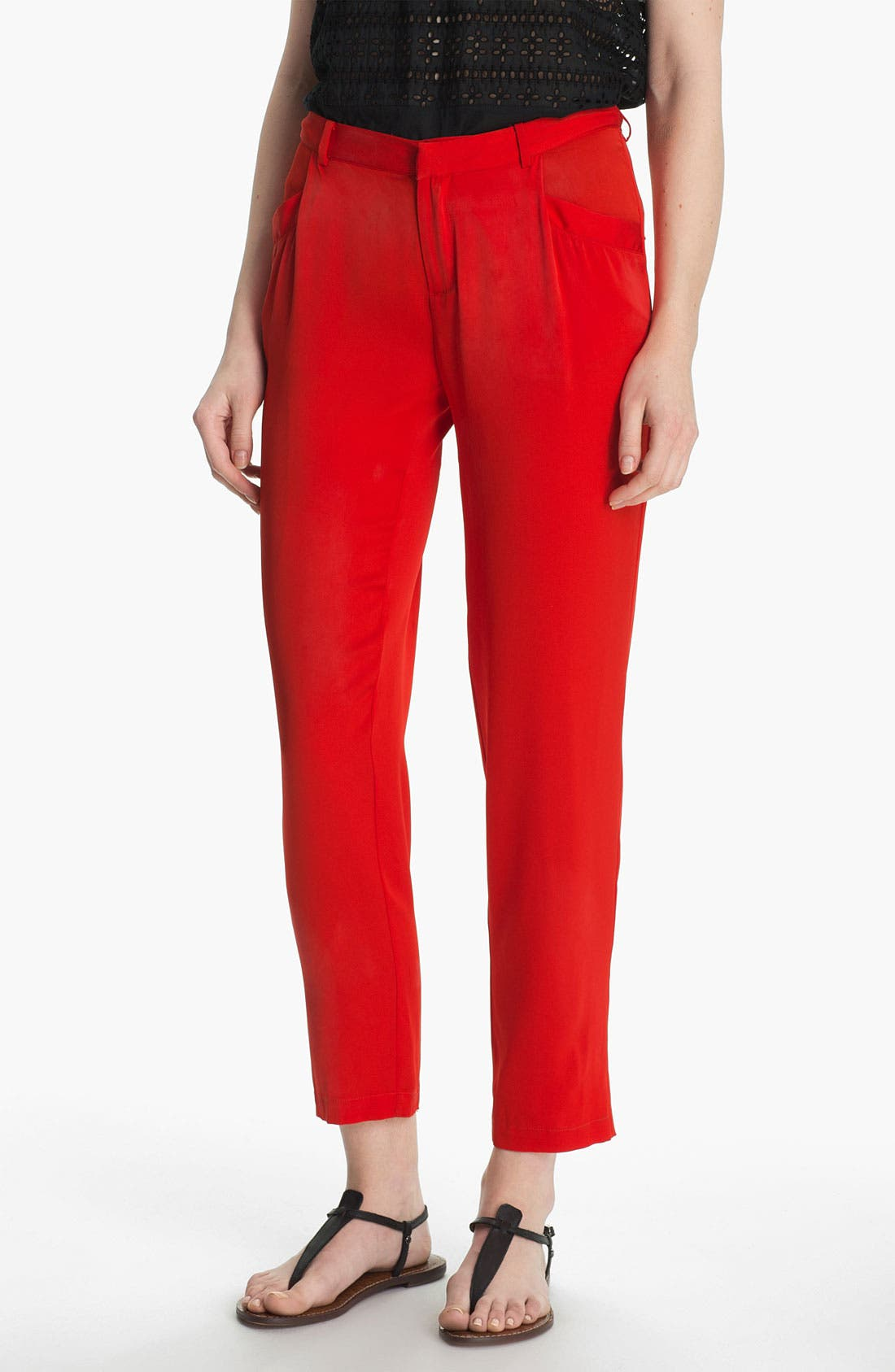 Alternate Image 1 Selected - Joie 'Davidson' Crop Stretch Silk Pants