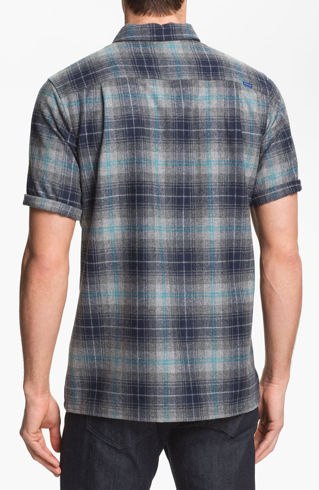 Alternate Image 2  - Pendleton 'Board' Fitted Short Sleeve Wool Shirt