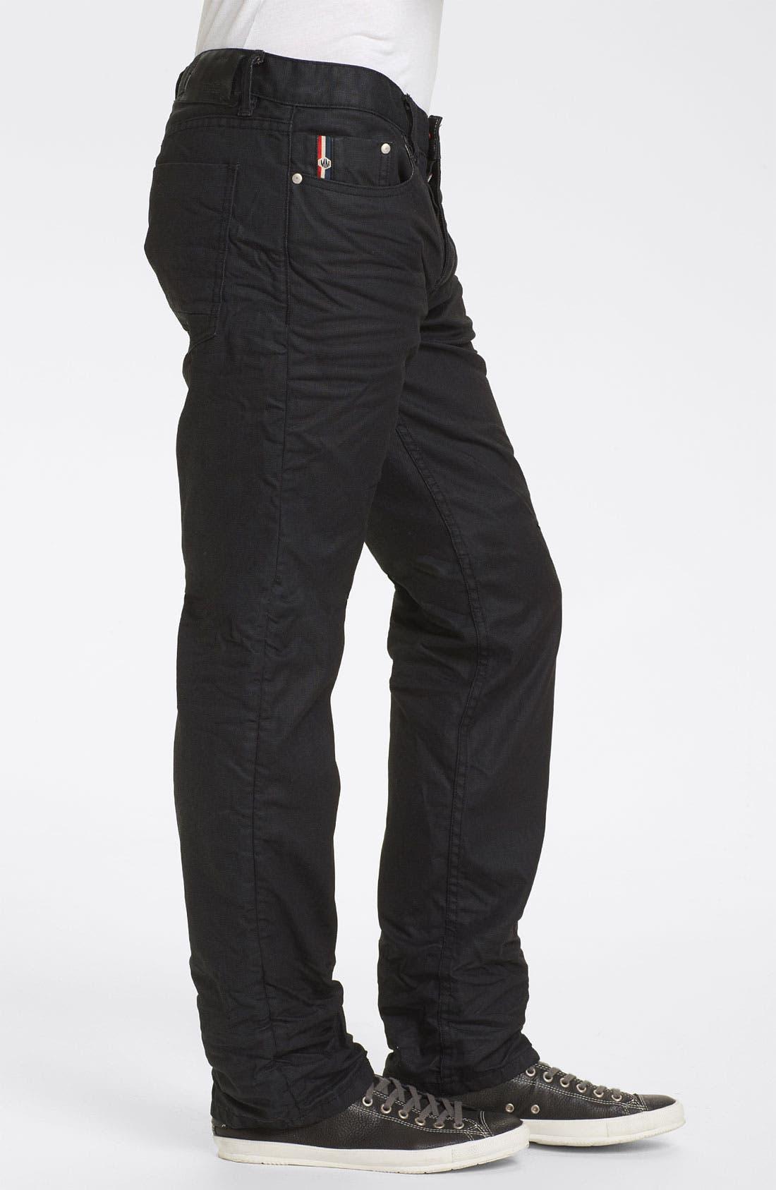 Alternate Image 3  - Denim & Leathers by Andrew Marc Straight Leg Jeans (Black)