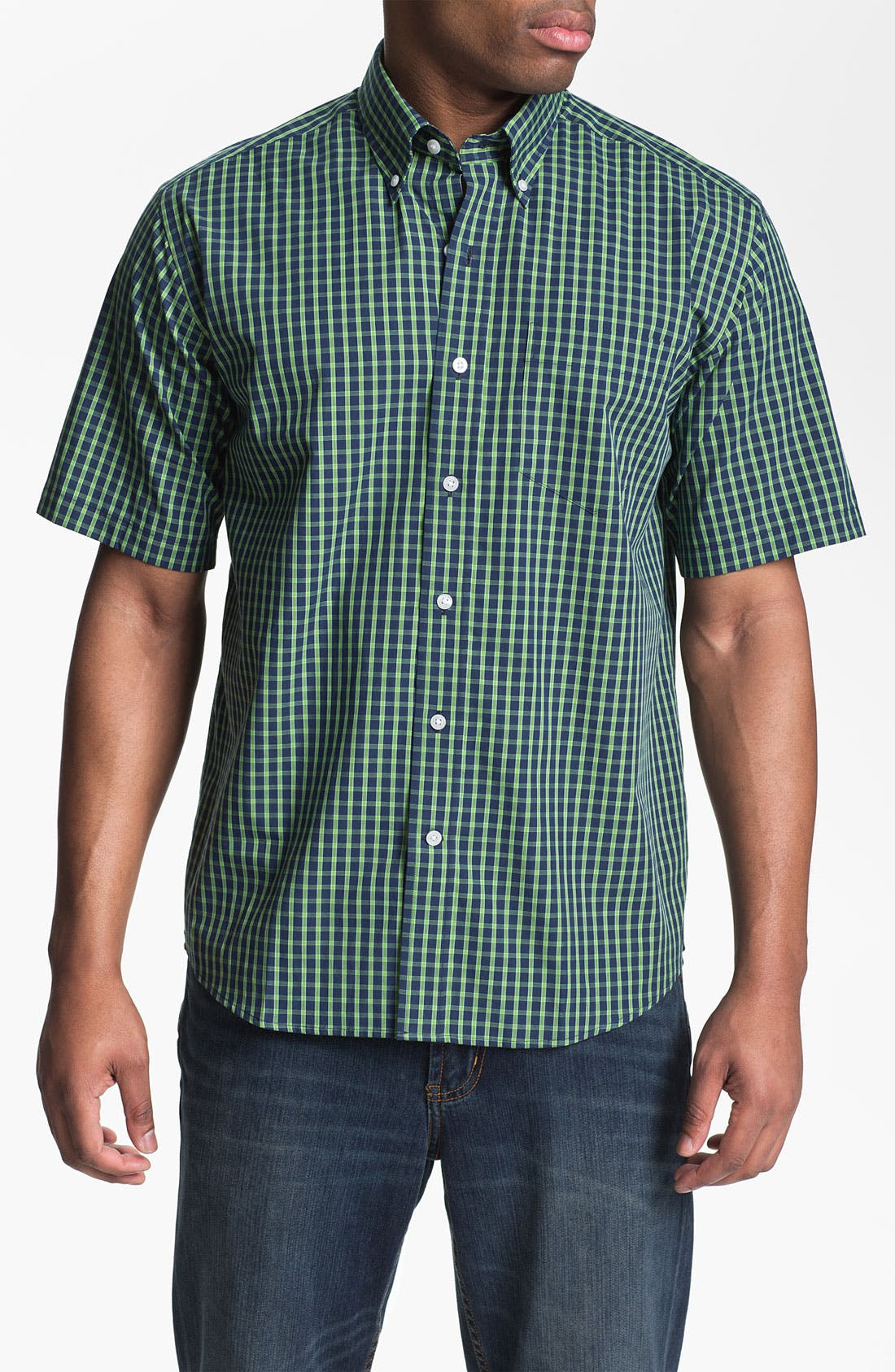 Main Image - Cutter & Buck 'Anders' Check Sport Shirt (Big & Tall)