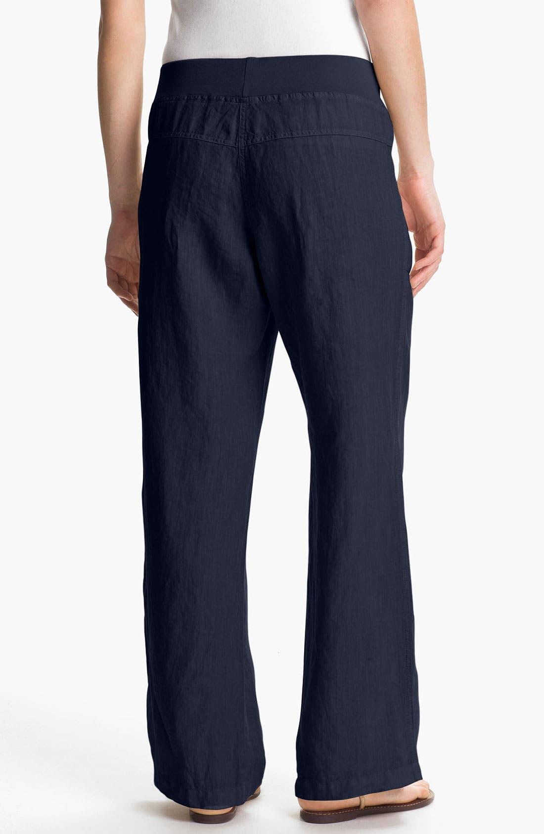 Alternate Image 2  - Nicki & Bell Rib Waist Linen Pants