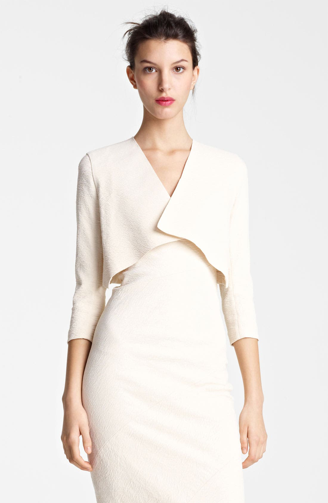 Alternate Image 2  - Donna Karan Collection Canvas Cardigan Jacket