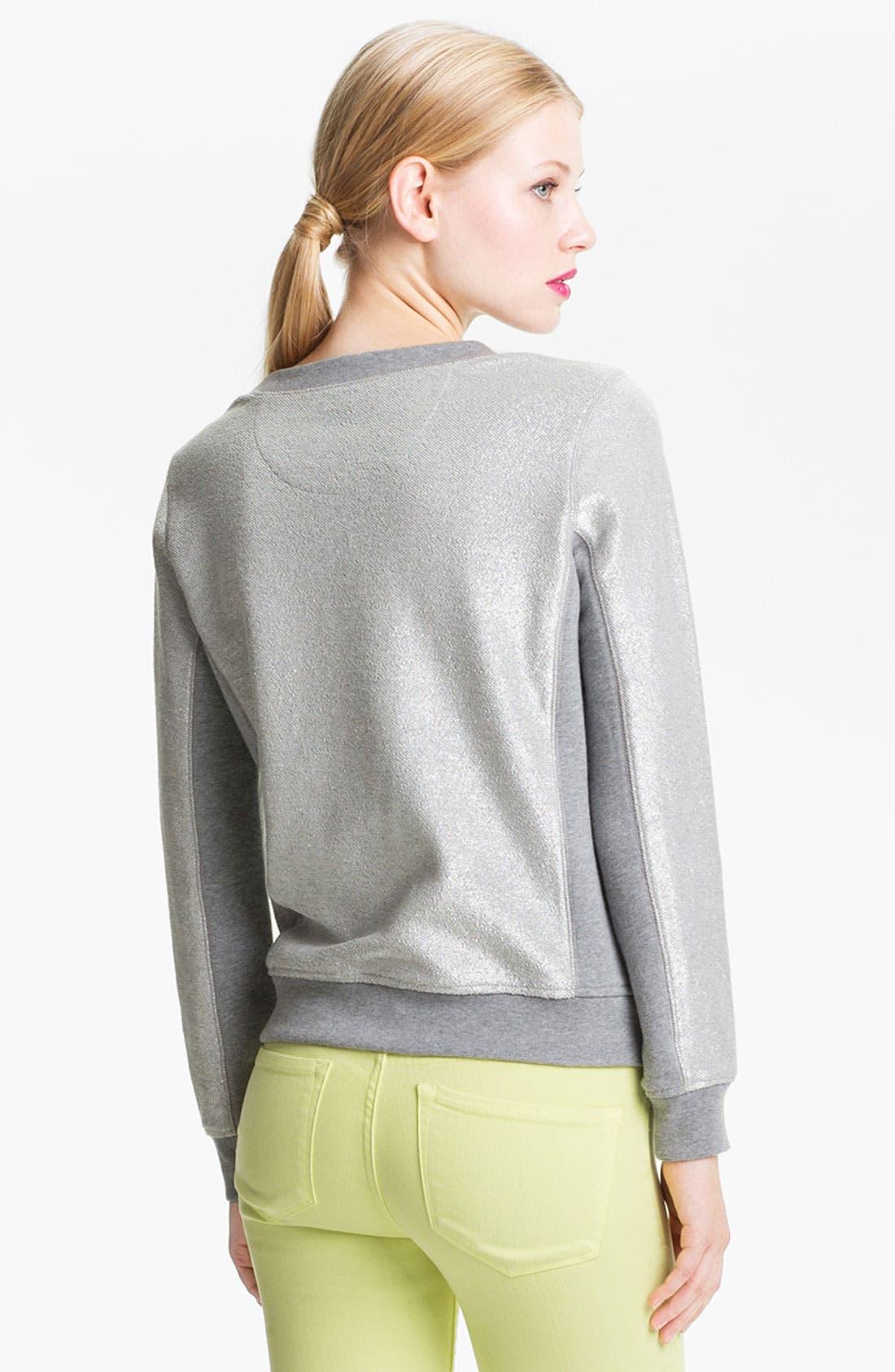 Alternate Image 2  - MARC BY MARC JACOBS Metallic Coated Sweatshirt