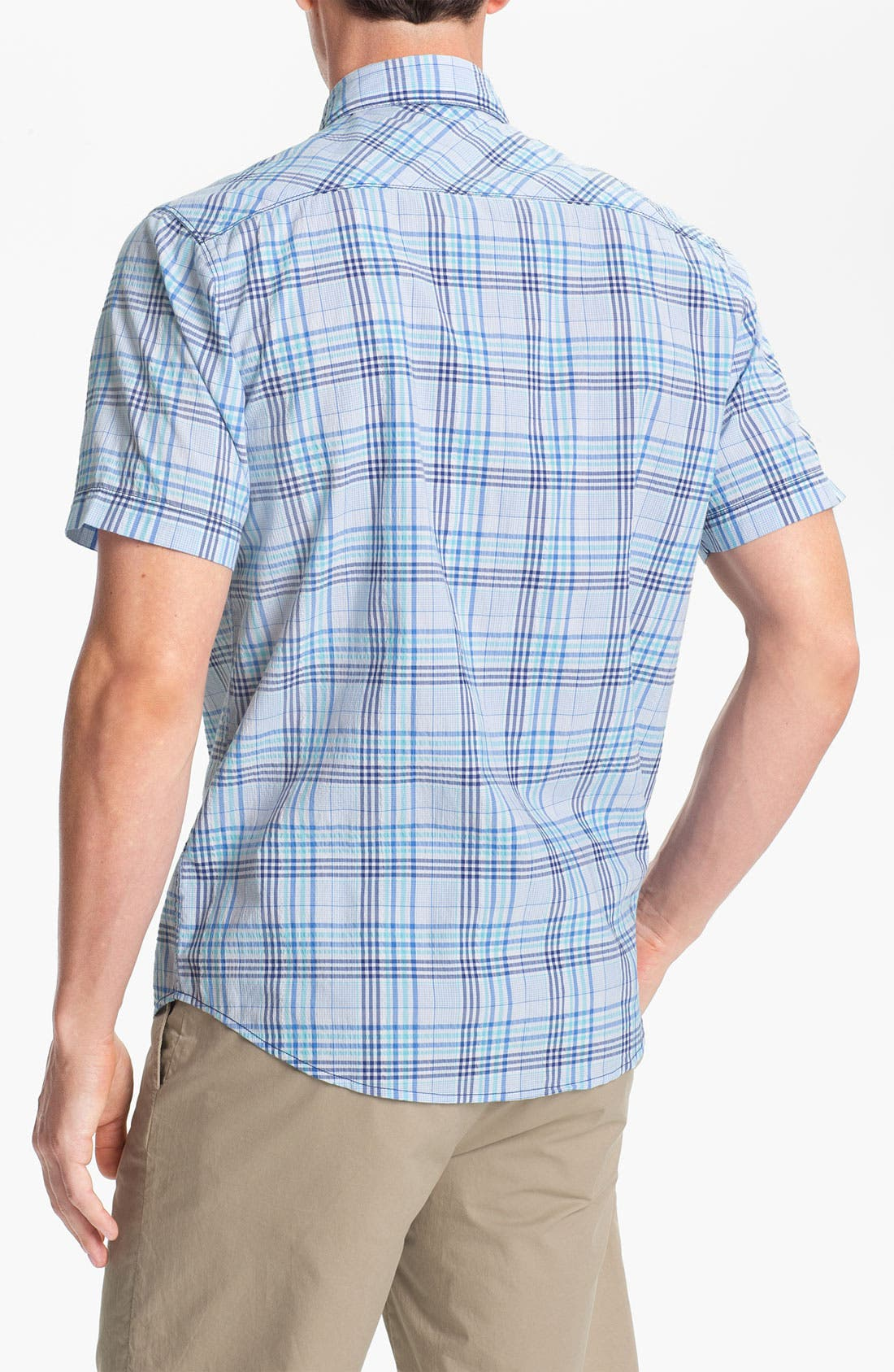 Alternate Image 2  - James Campbell 'Yupon Plaid' Sport Shirt