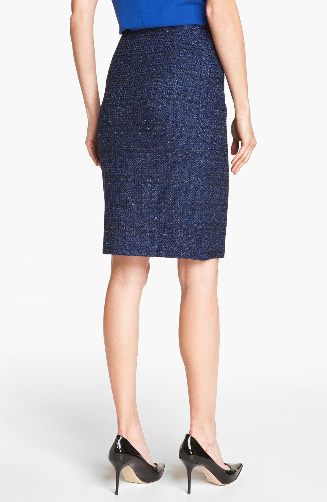 Alternate Image 4  - St. John Collection Tweed Knit Pencil Skirt