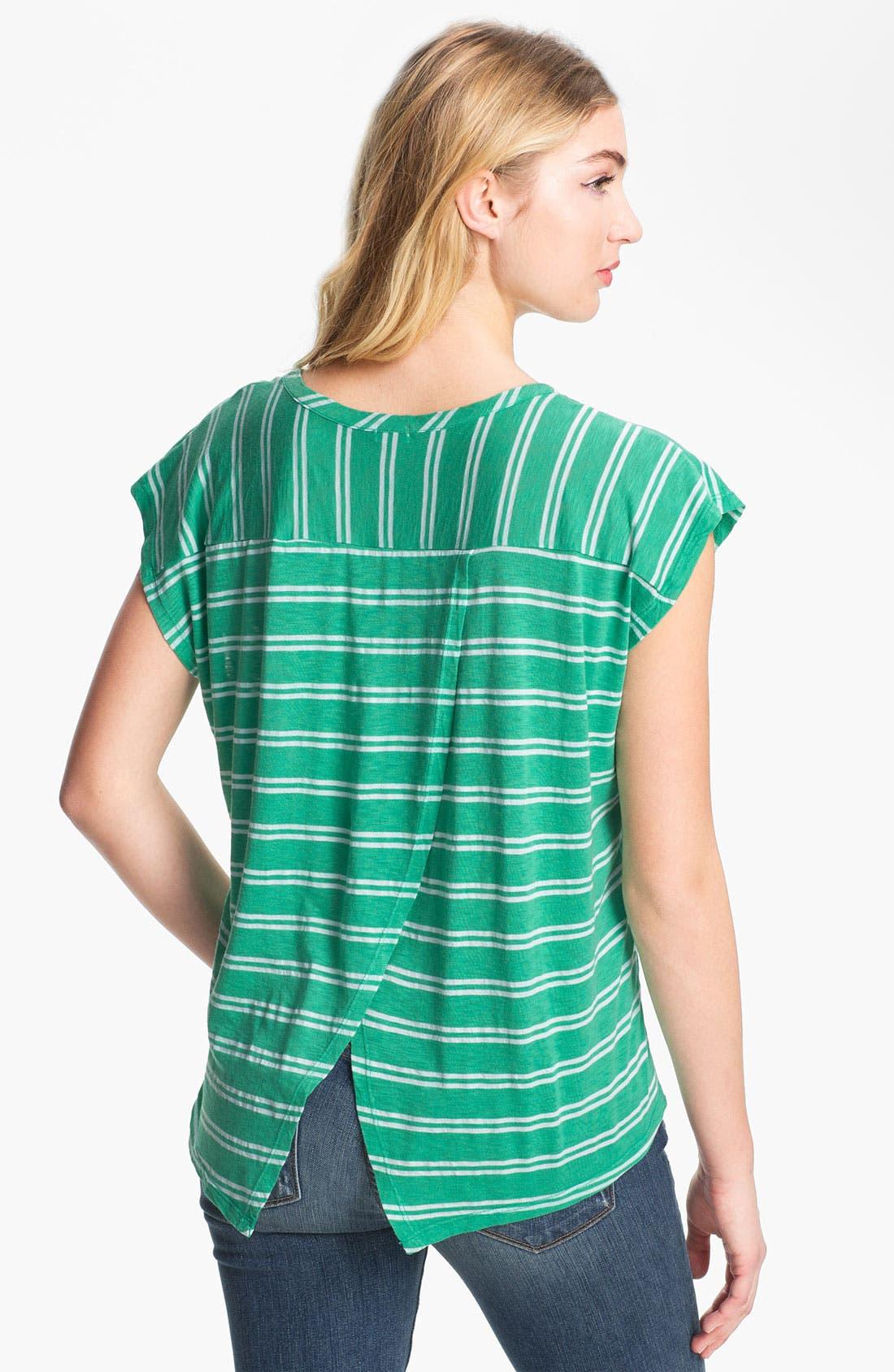 Alternate Image 2  - Splendid Envelope Back Stripe Tee