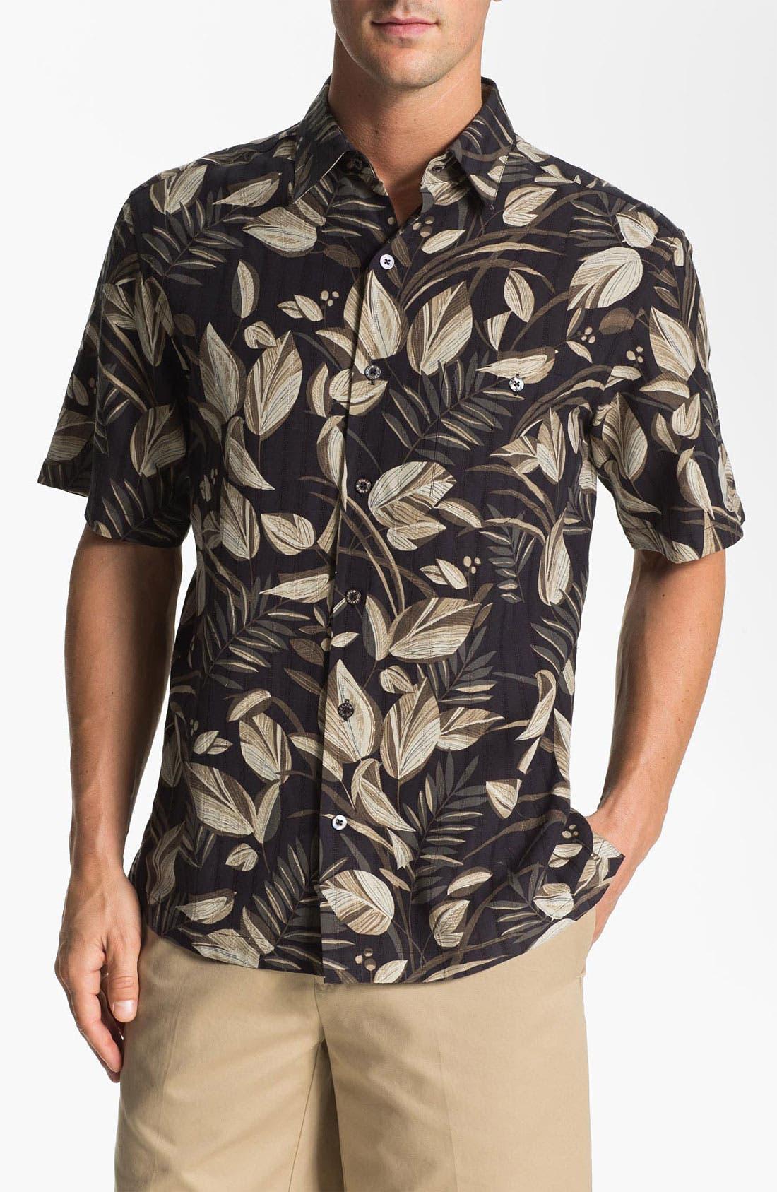 Main Image - Tori Richard 'Bird Watcher' Silk & Linen Sport Shirt